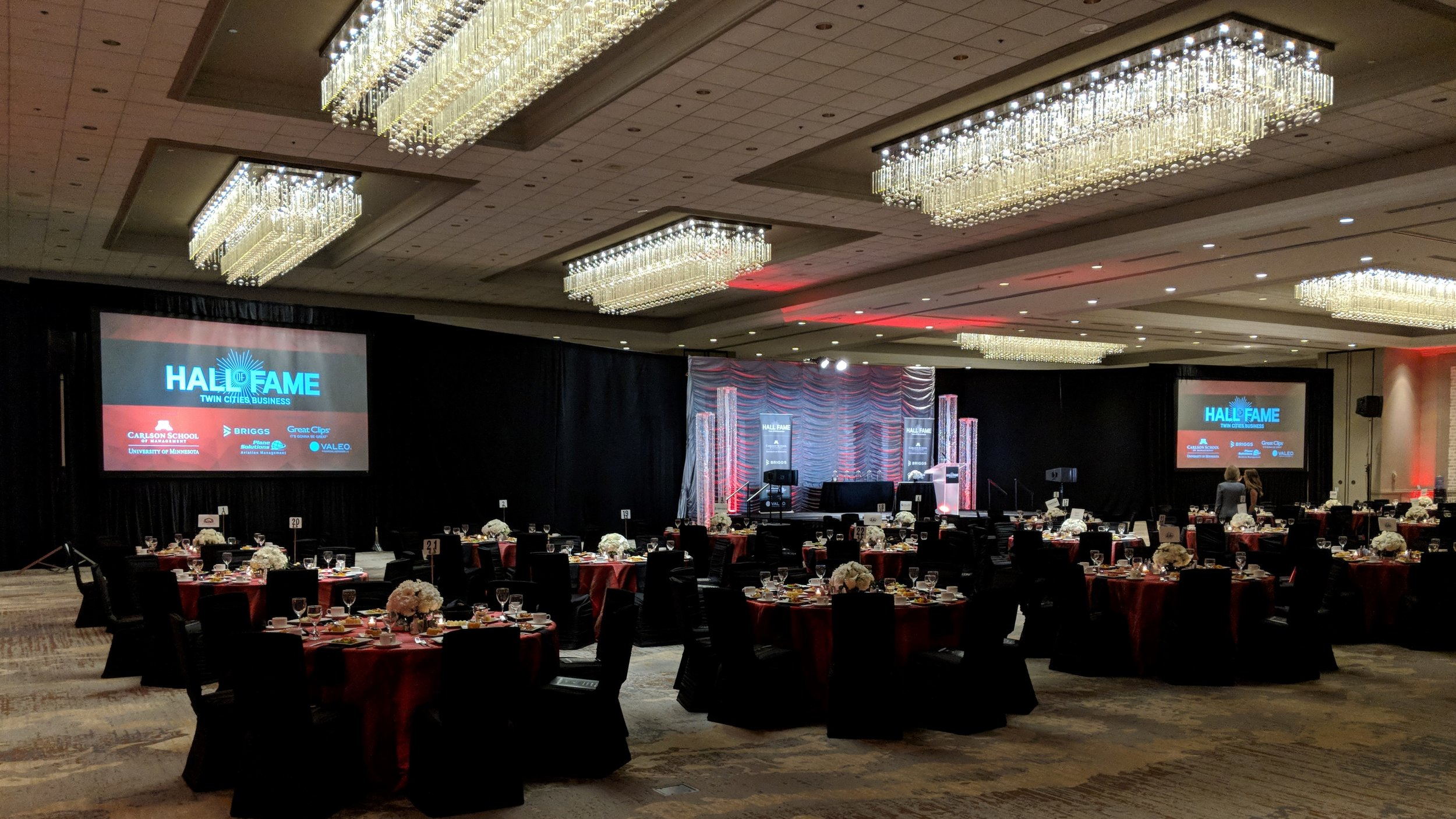 Picture of AV for You rental equipment at the Hilton Downtown Minneapolis