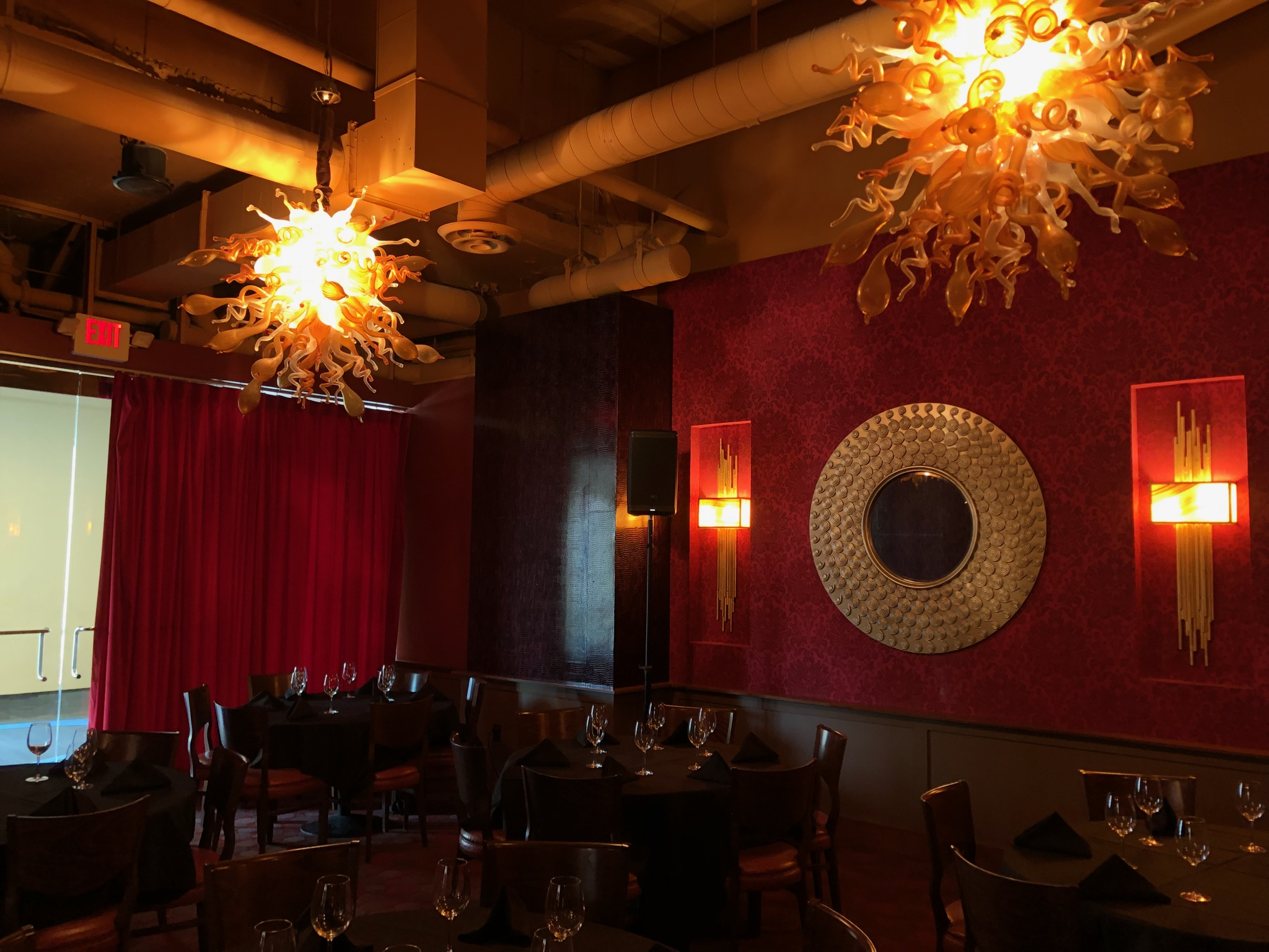 Picture of AV for You audio rental equipment at CRAVE Downtown Minneapolis