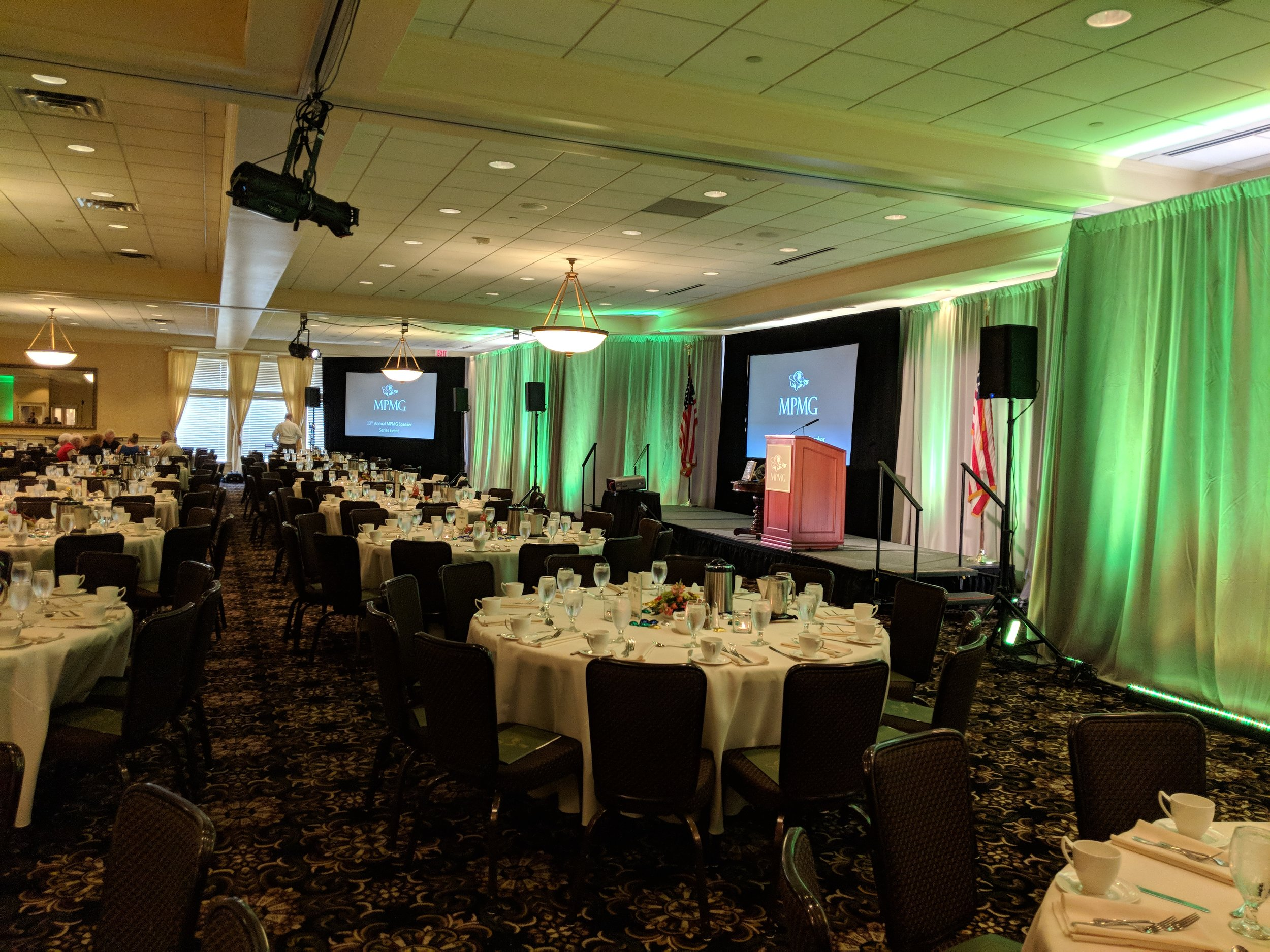 Picture of AV for You event equipment rental at the Golden Valley Golf and Country Club