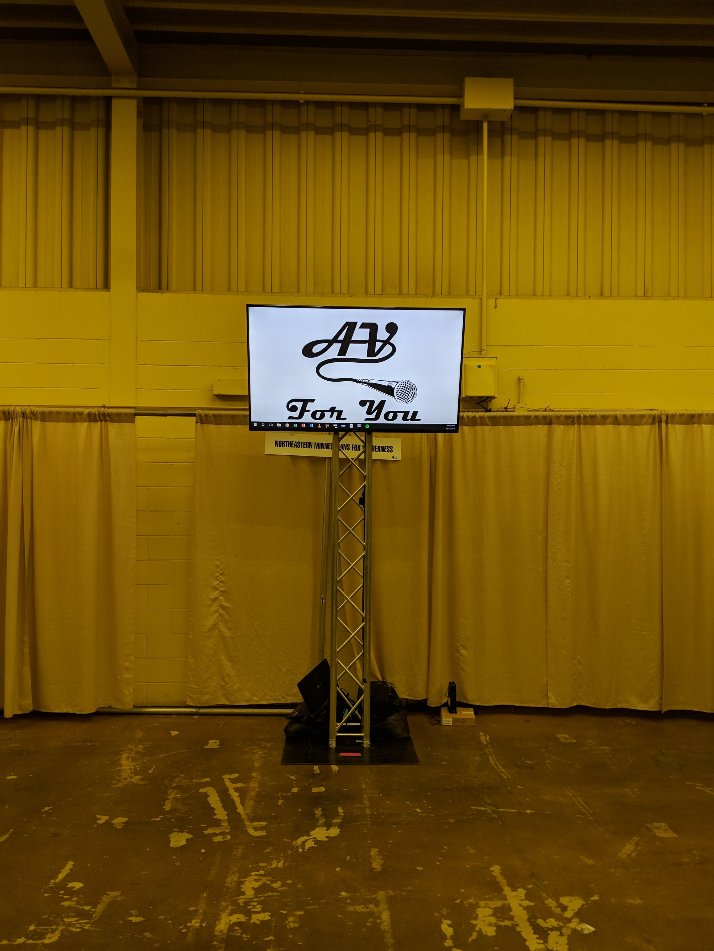 Picture of AV for You TV rental at the Minnesota State Fair