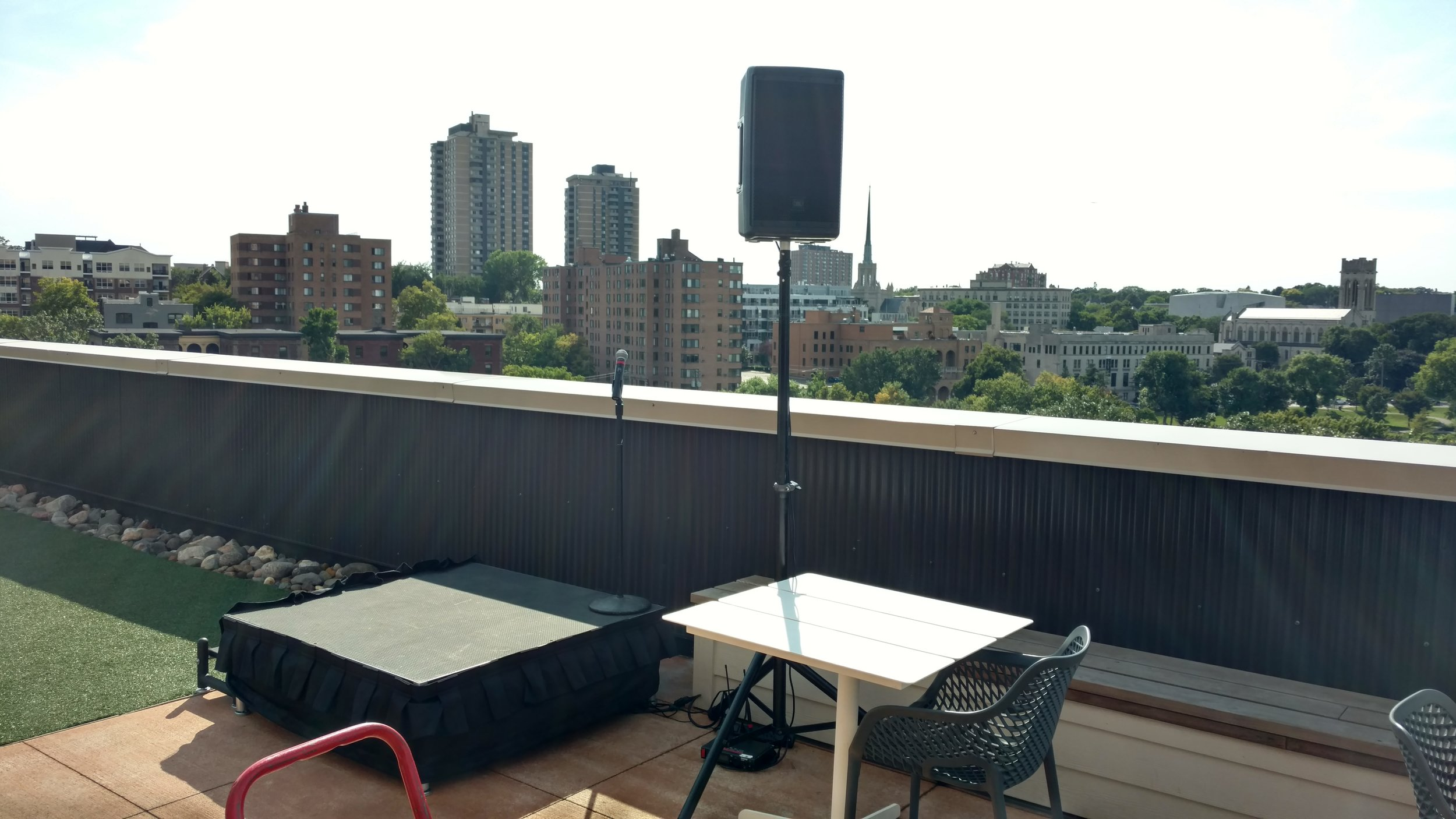 Picture of Speaker, Microphone and Stage rental in Downtown Minneapolis