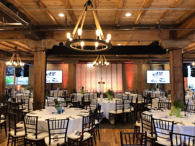 Picture of AV for You uplighting rental equipment at the Minneapolis Event Center