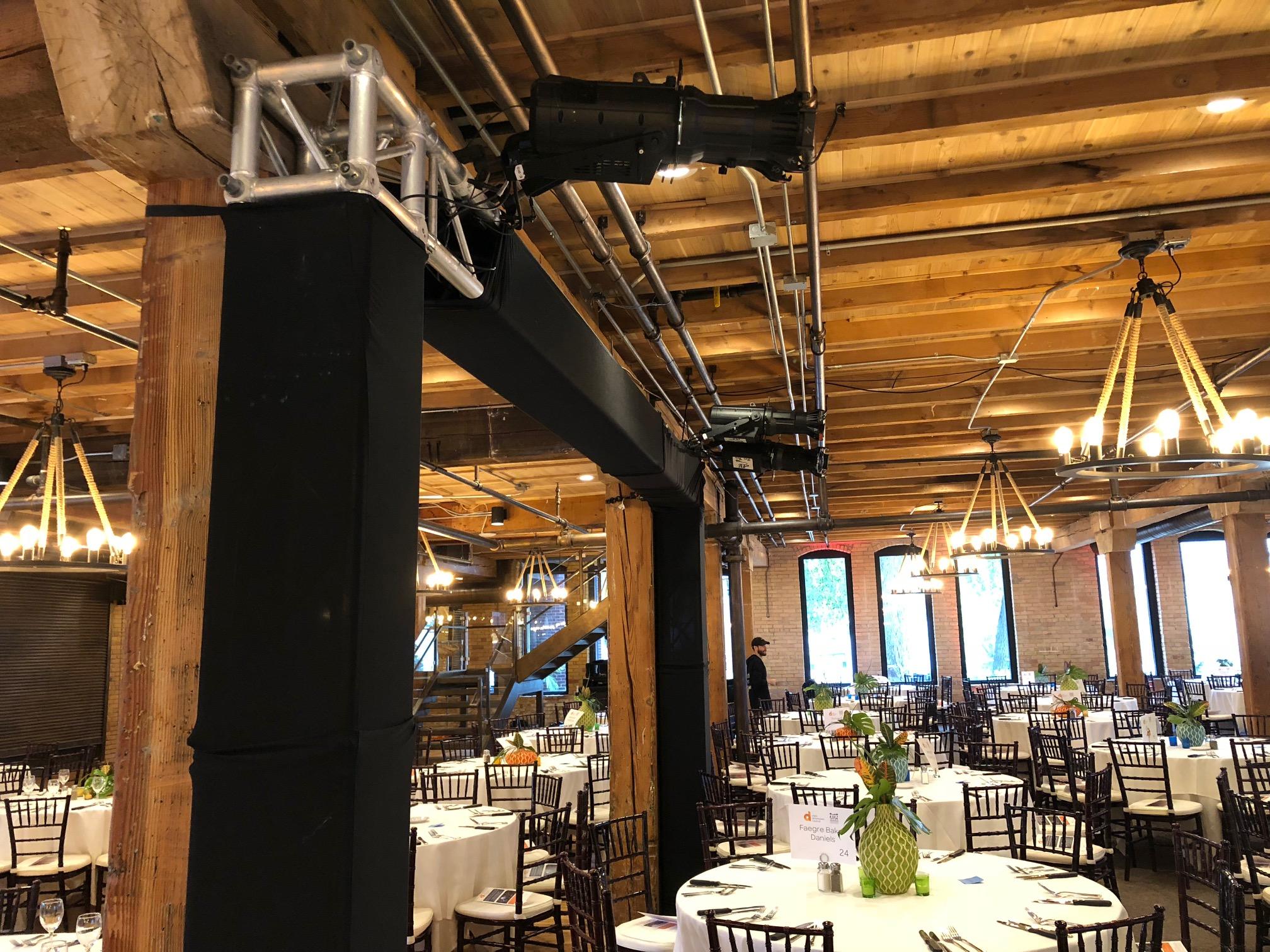 Picture of AV for You lighting rental equipment at the Minneapolis Event Center