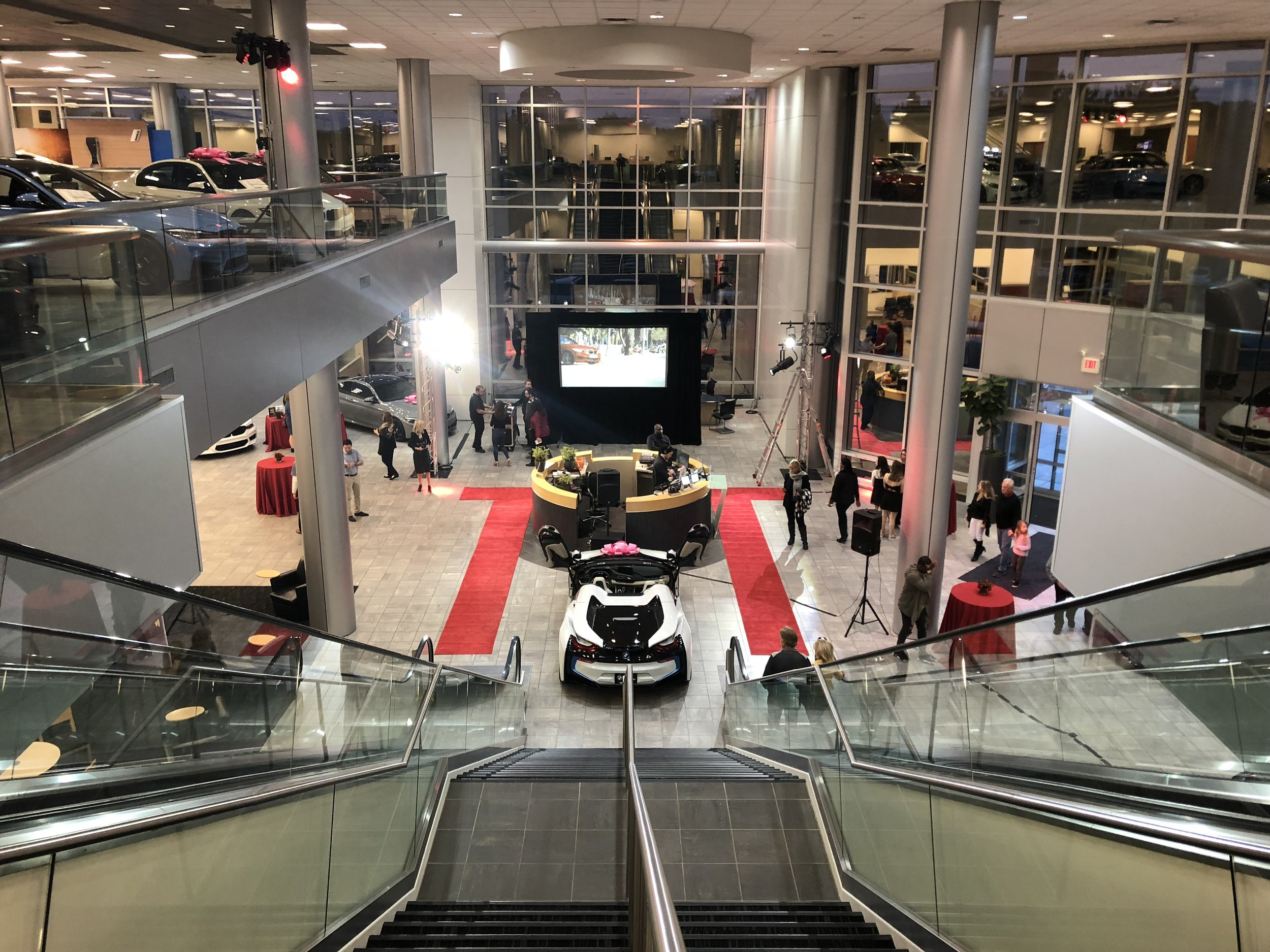 Red Hot Runway Fashion Show Event At Bmw Audio Visual Equipment Rental Company Minneapolis Mn