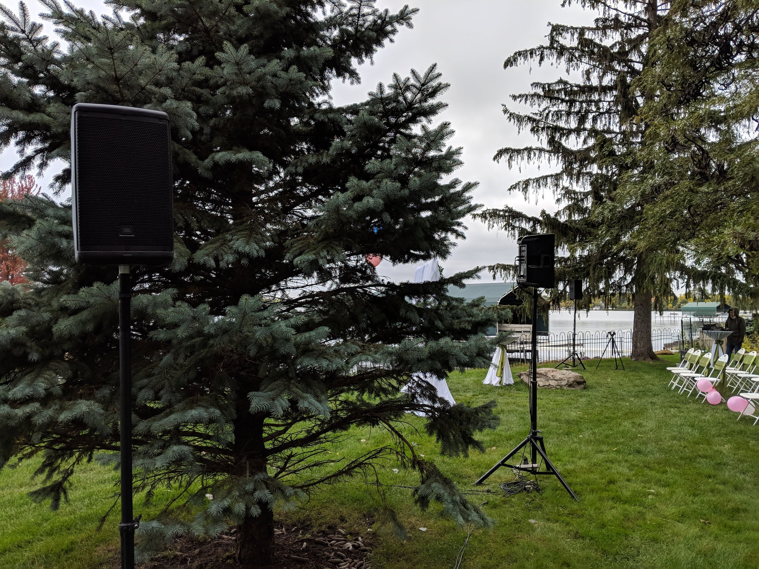 Picture of AV for You audio equipment rental for a backyard Wedding in Wayzata