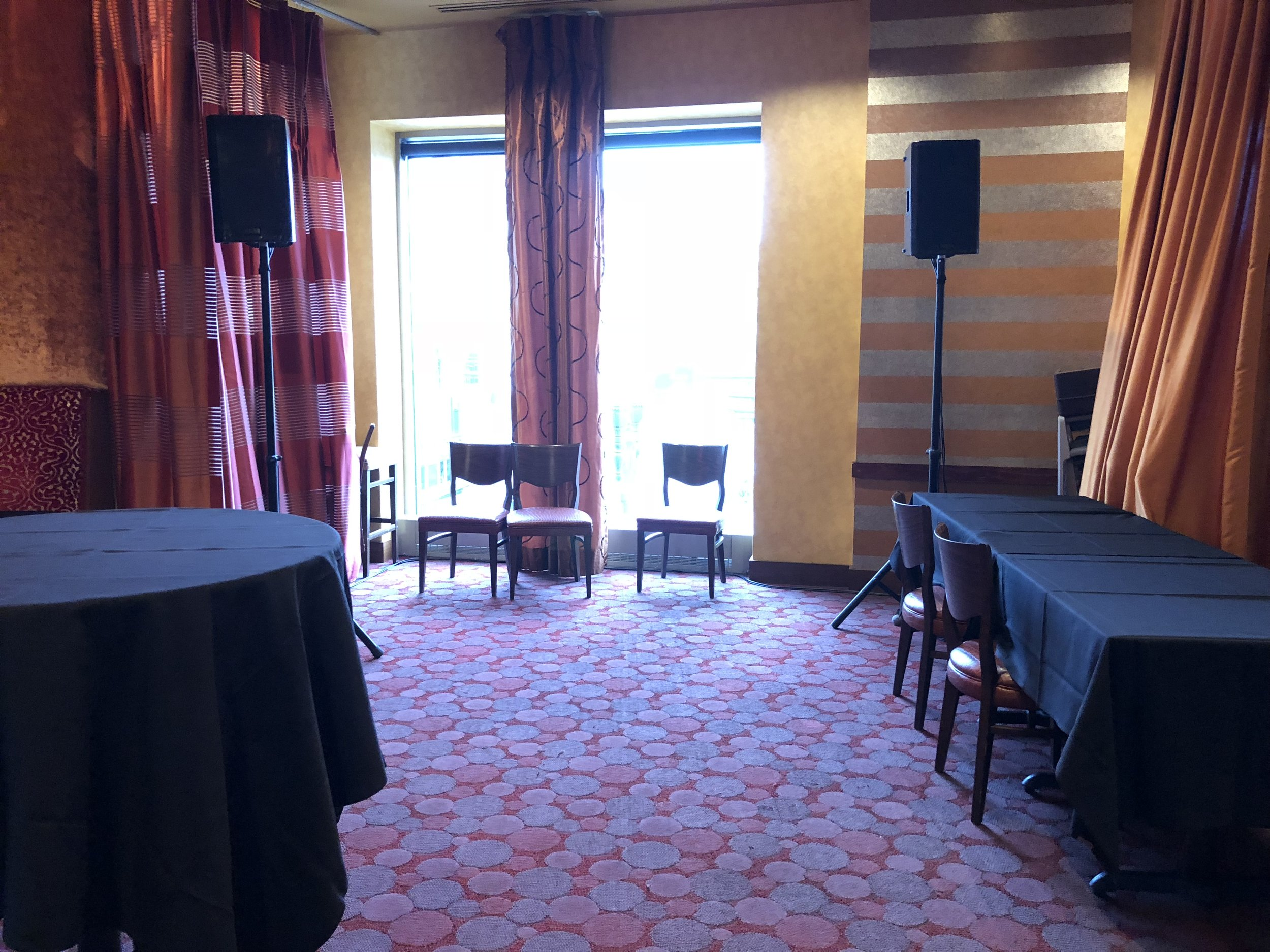 Picture of AV for You speaker and microphone rental at Crave in Downtown Minneapolis