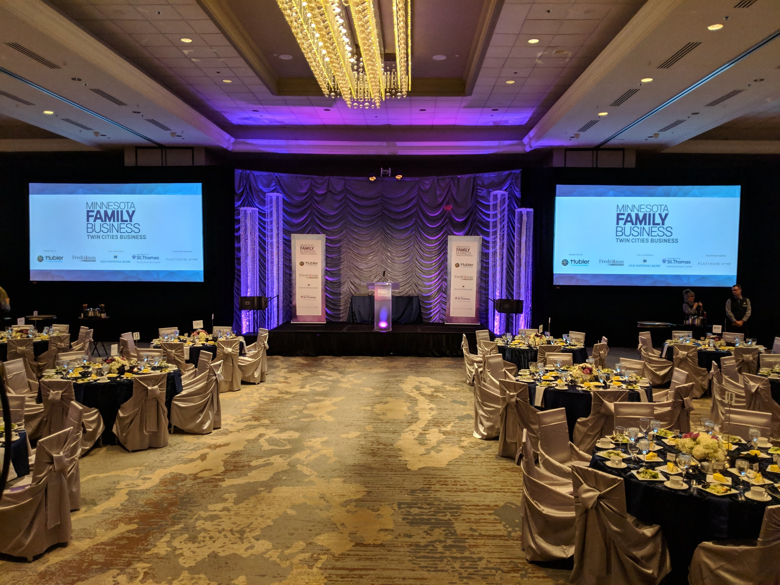 Picture of AV for You rental equipment at the Family Business Awards