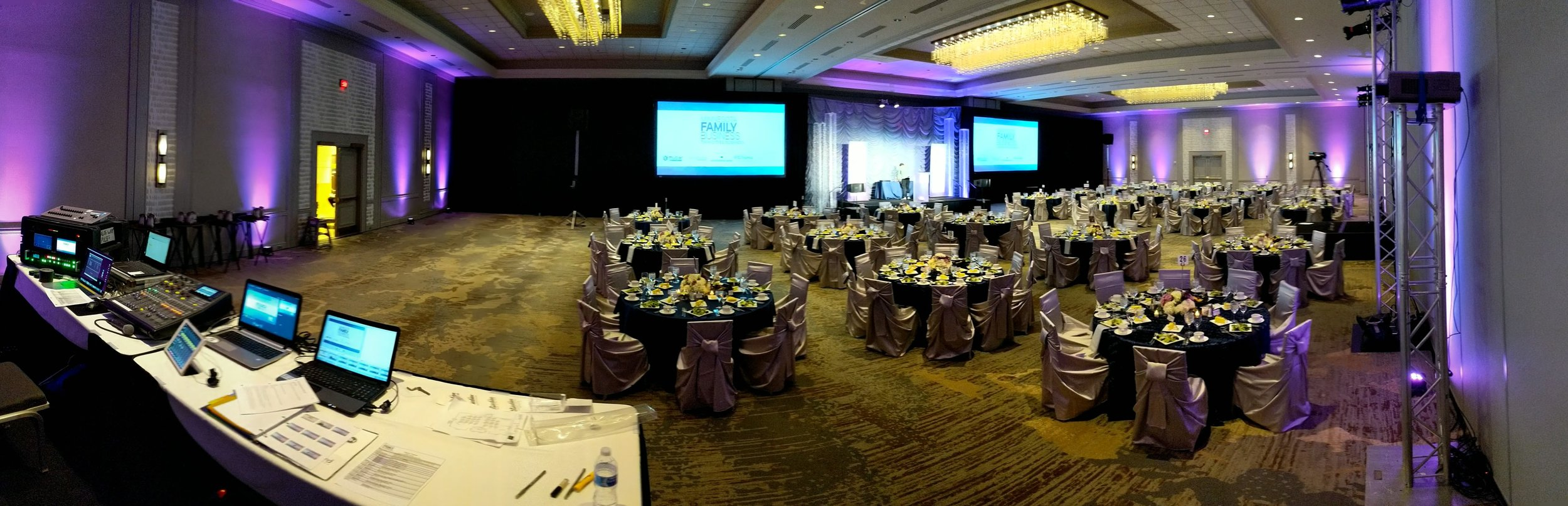 Picture of AV for You rental equipment at the Family Business Awards in the Hilton Mpls