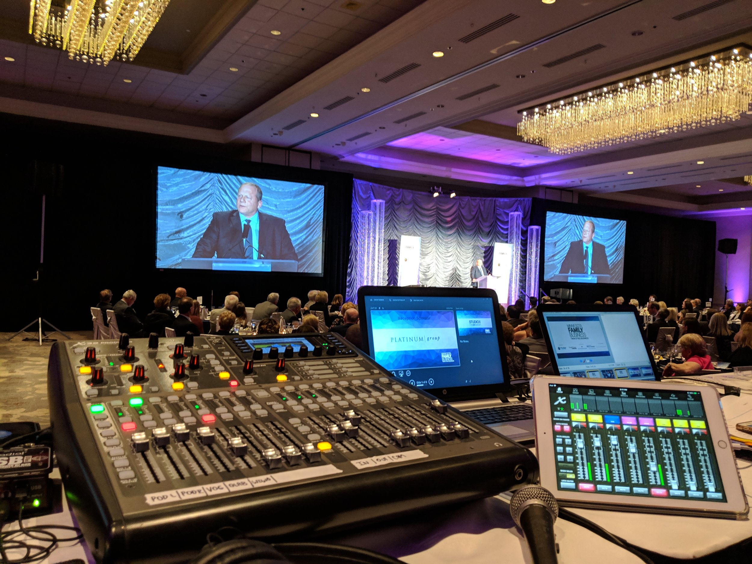 Picture from the AV for You tech table at the Hilton Minneapolis