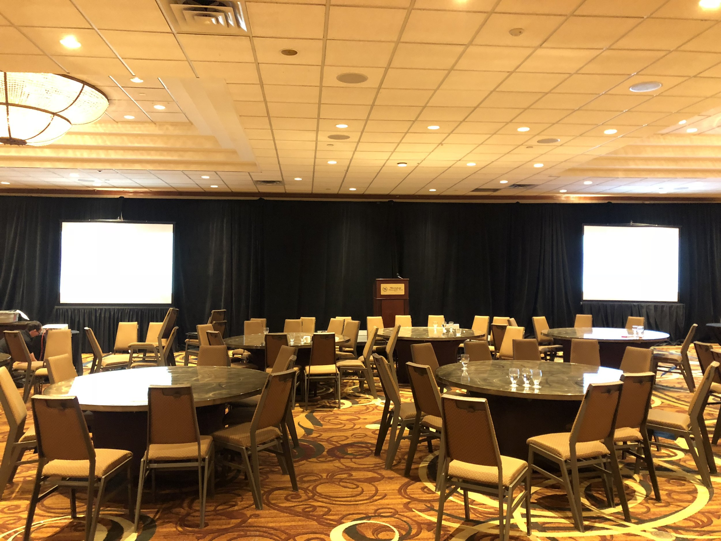 Picture of AV for You rental equipment at the Sheraton Minneapolis West Hotel
