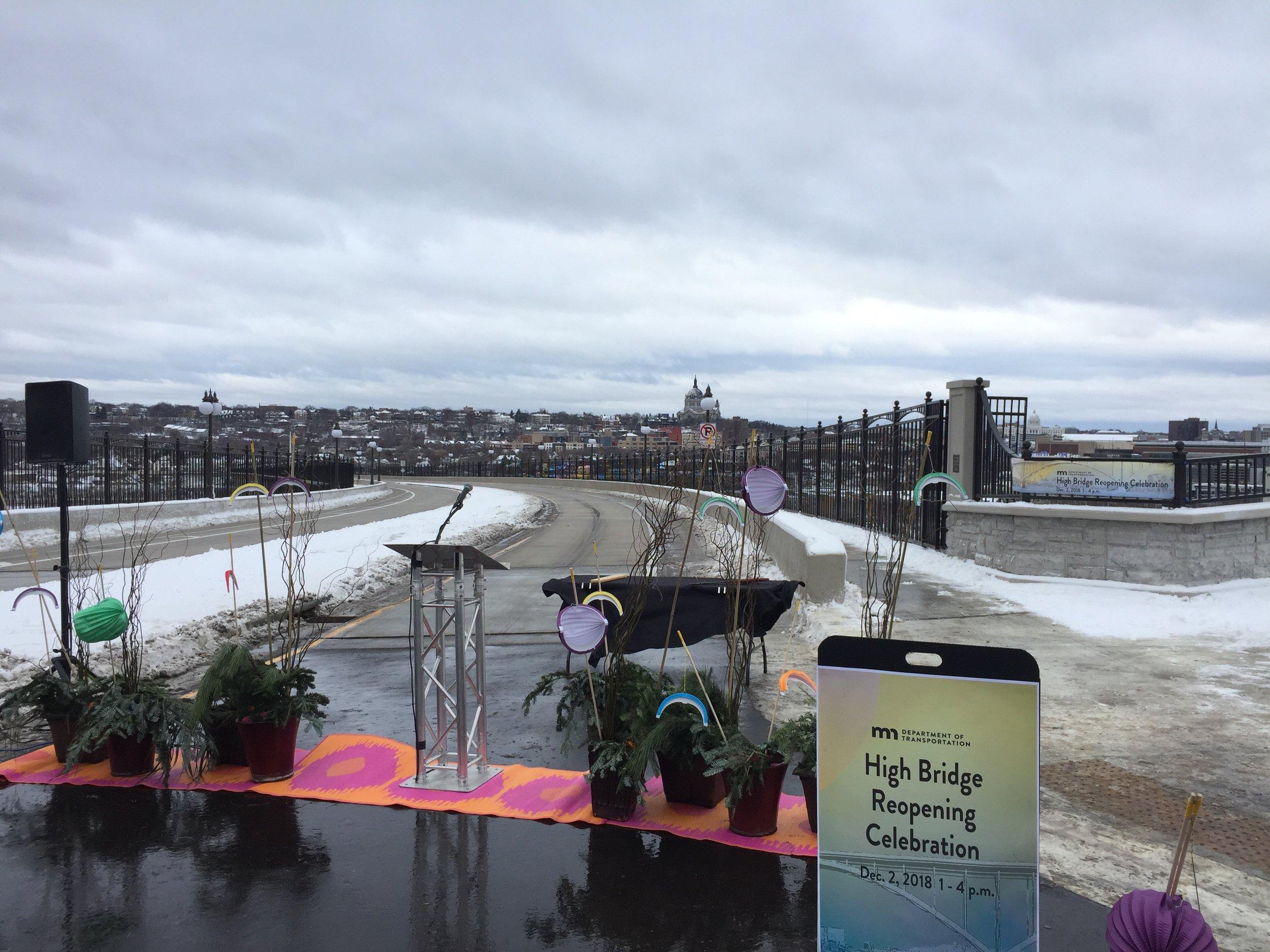 Picture of AV for You rental equipment for a bridge celebration in St Paul