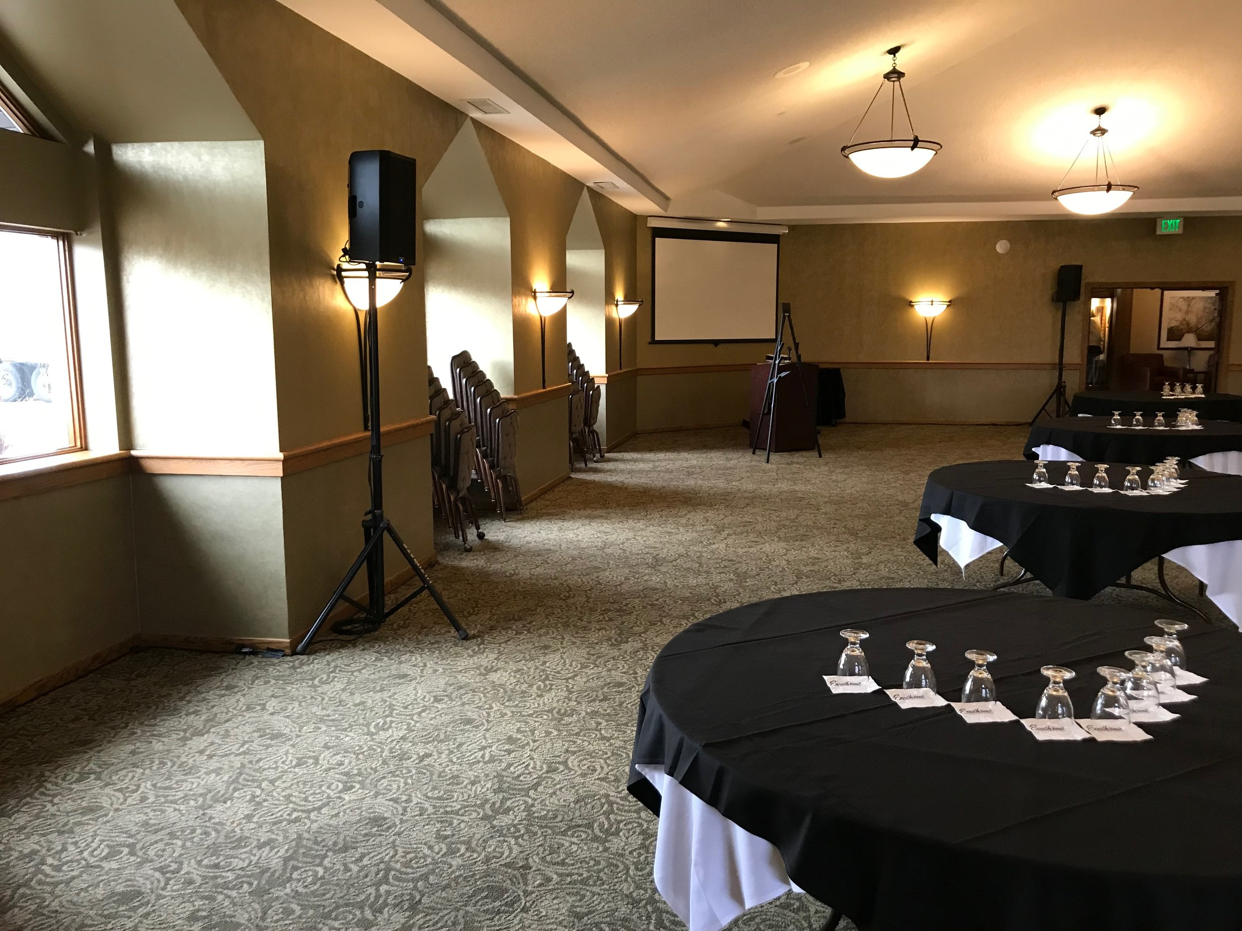 Picture of AV for You rental equipment at Southview Country Club in St Paul