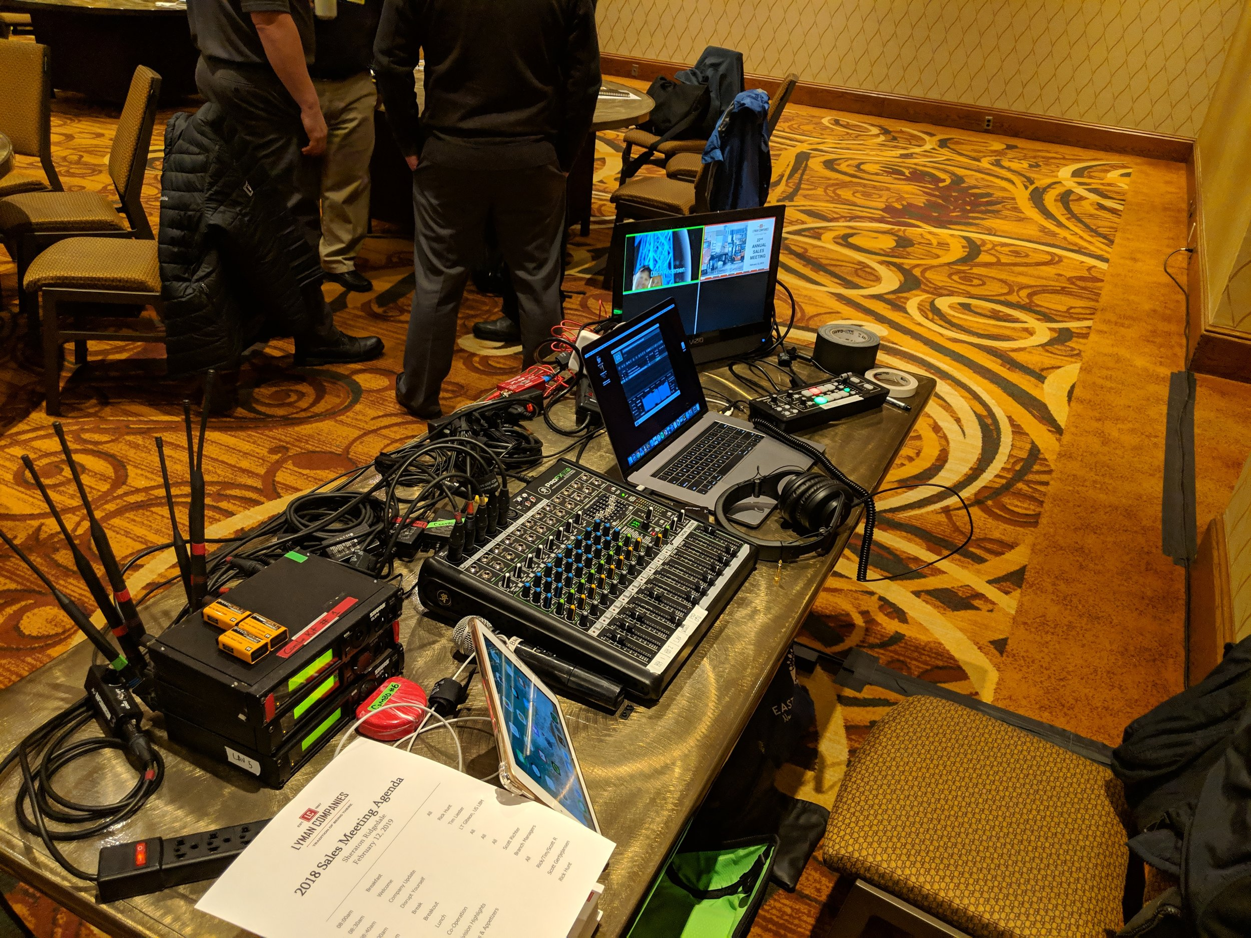 Picture of AV for You Tech Table at the Sheraton Minneapolis West