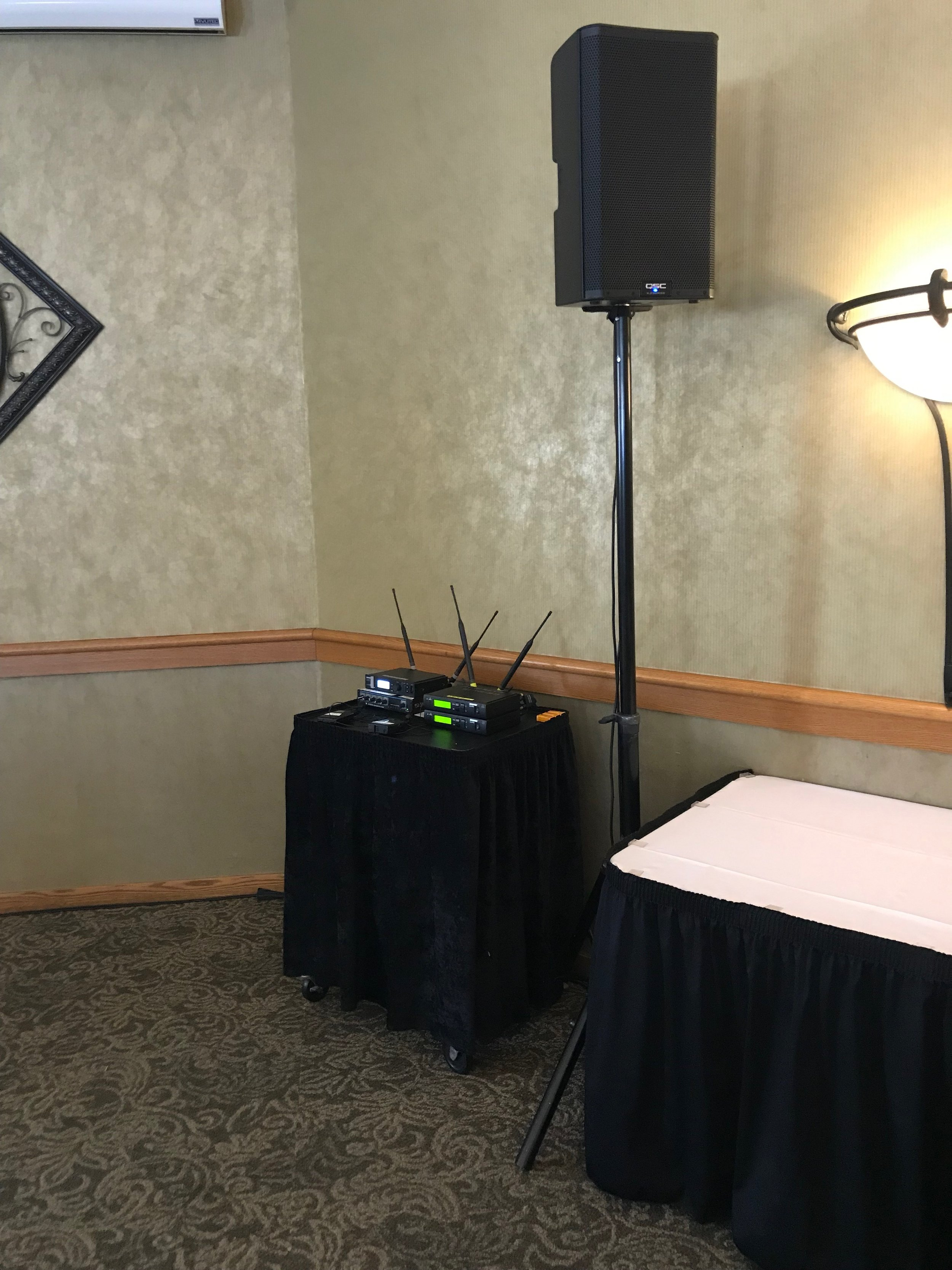 Picture of AV for You rental equipment at the Southview Country Club in St. Paul