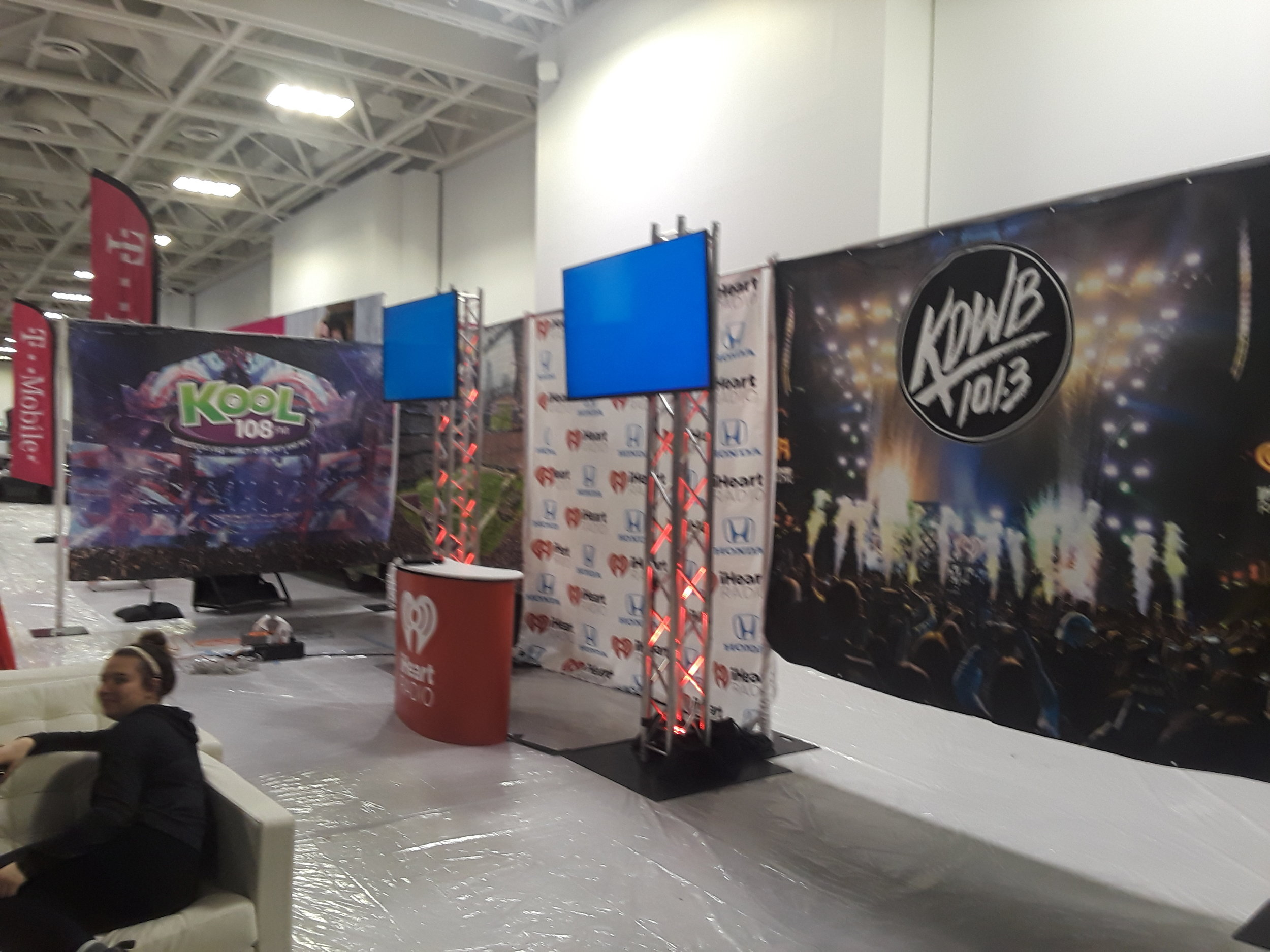 Picture of AV for You Rental Equipment at the Twin Cities Auto Show in the Minneapolis Convention Center