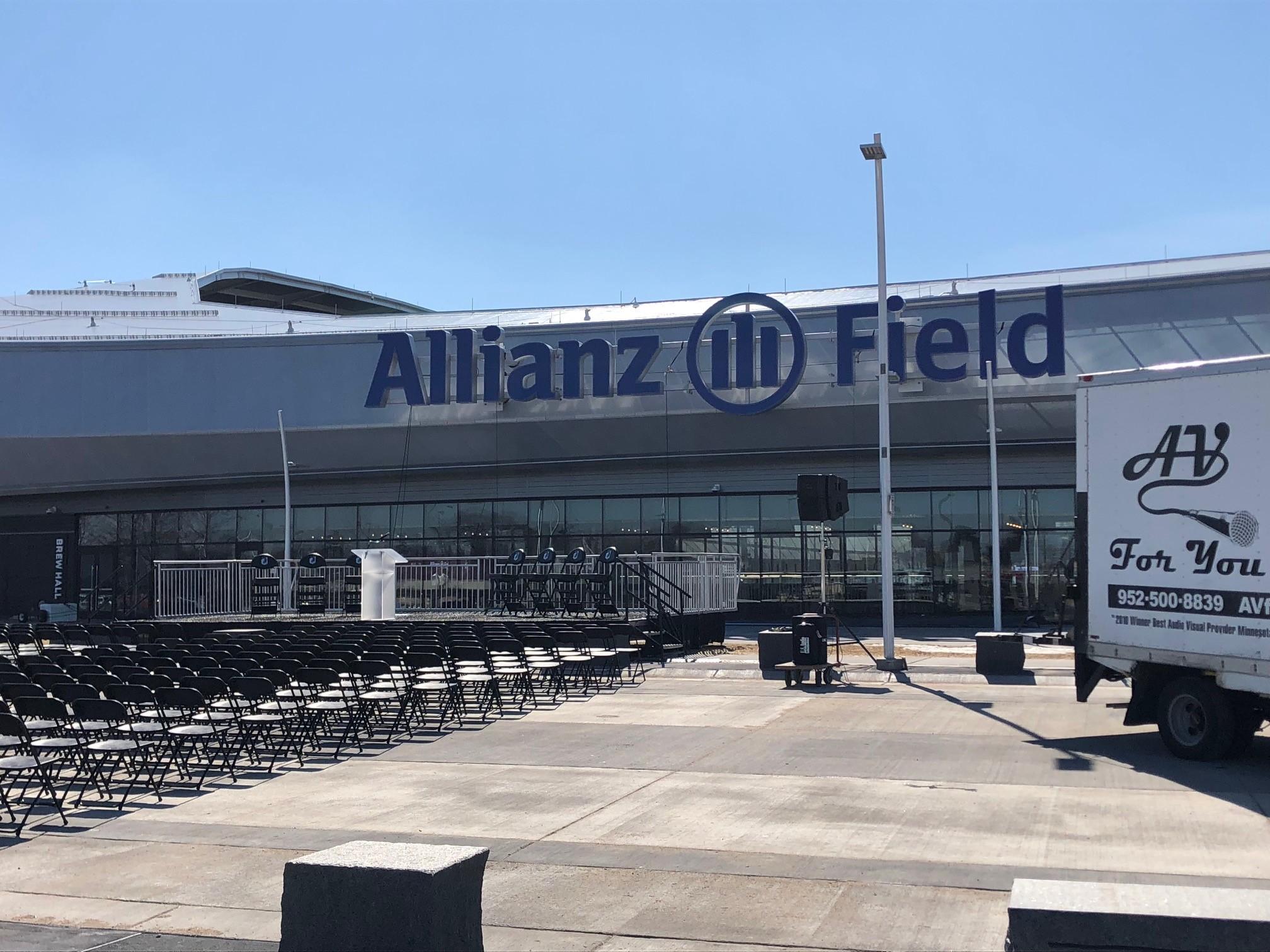 Picture of AV for You Speaker Rental Equipment at Allianz Field