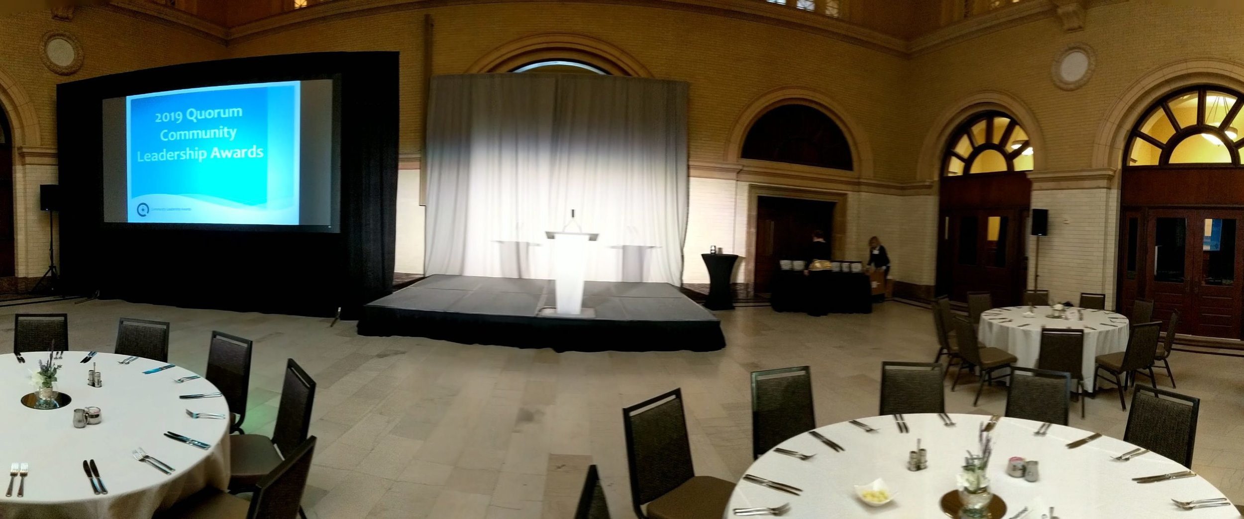 Picture of AV for You Rental Equipment for an Awards Show at The Depot in Minneapolis