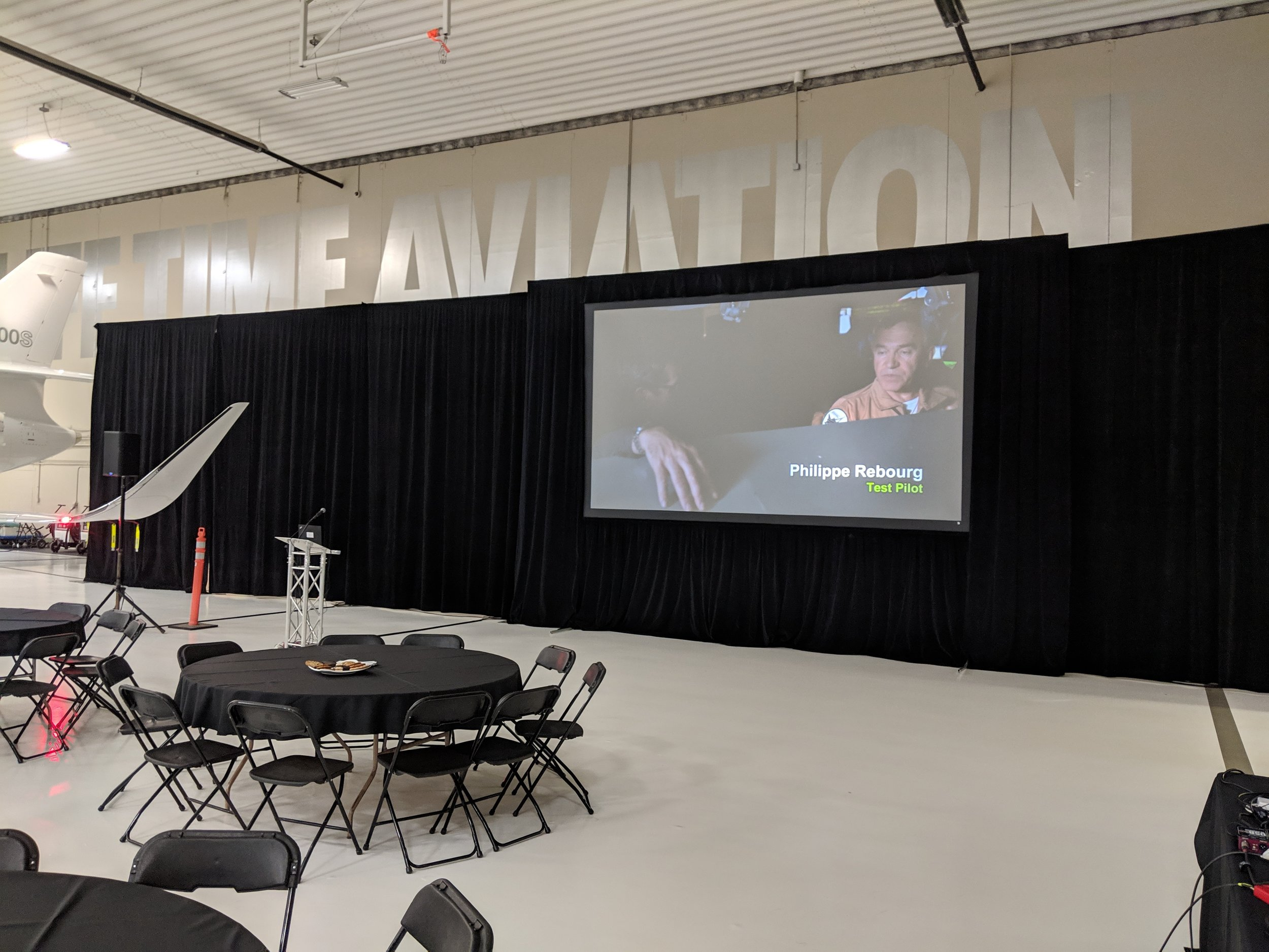 Picture of AV for You Rental Equipment at Airplane Hangar in Bloomington, MN