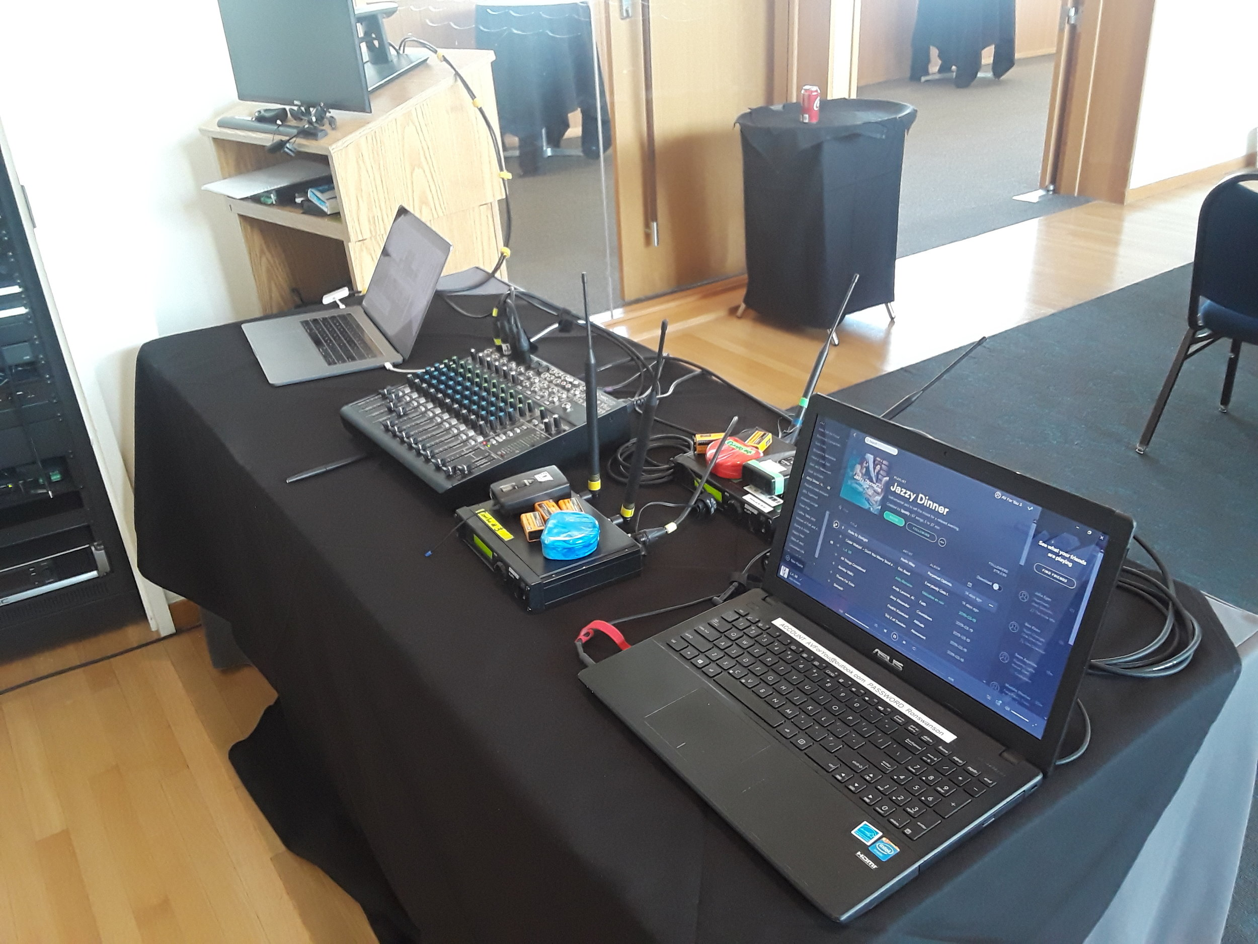 Picture of AV for You Tech Tableat the American Swedish Institute in Minneapolis