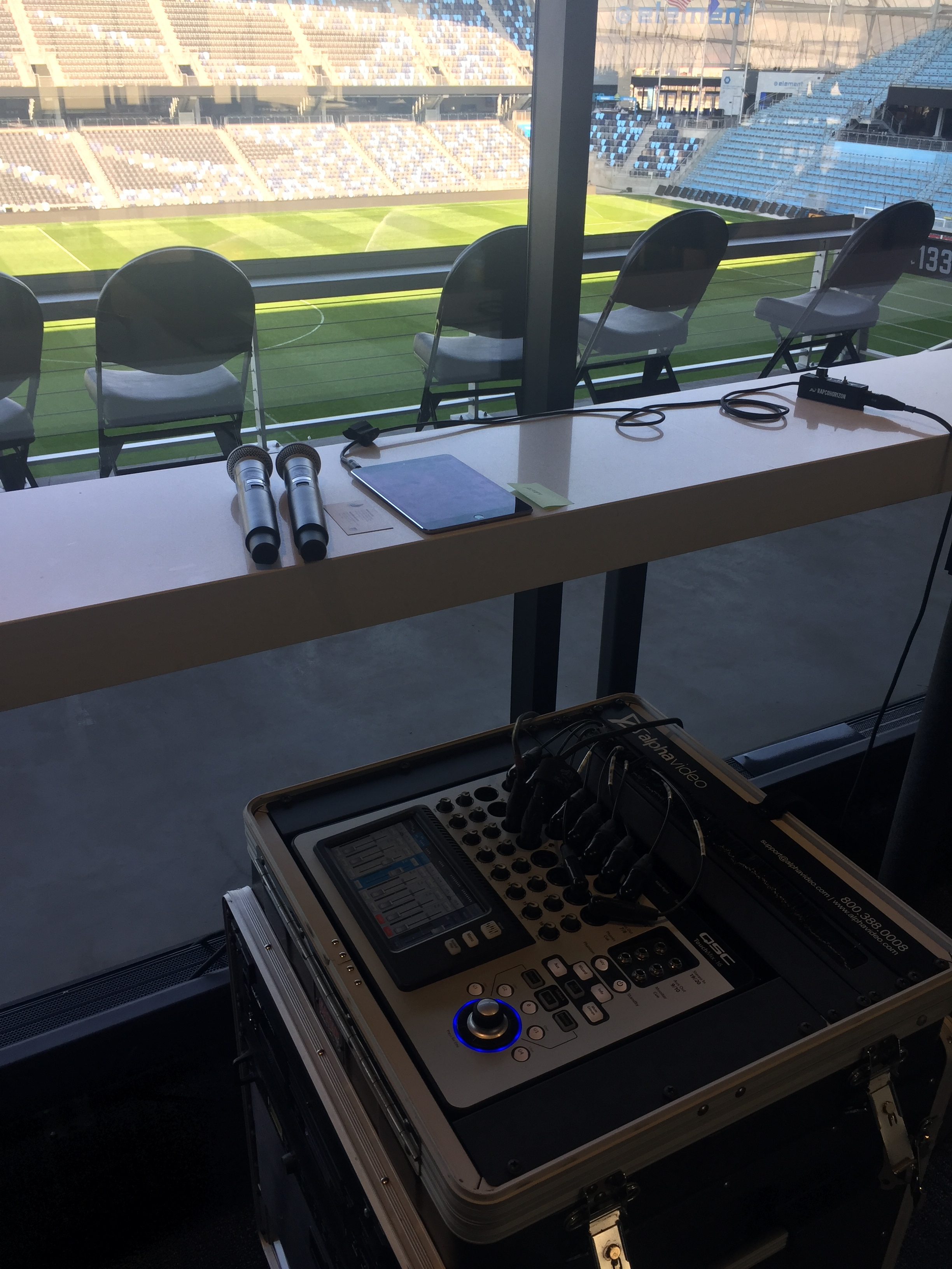 Picture of AV for You Microphone Rental for Stadium Club Event in Allianz Field