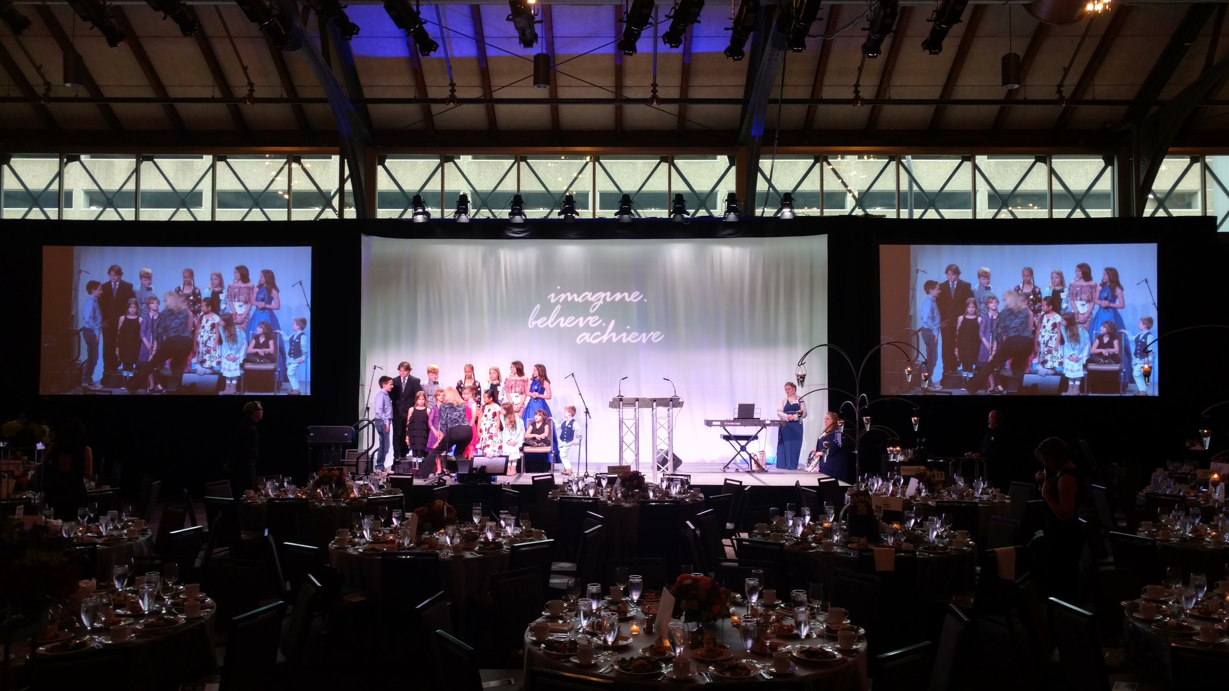 Picture of AV for You rental equipment for the Shriners Gala atthe Depot Hotel in Minneapolis