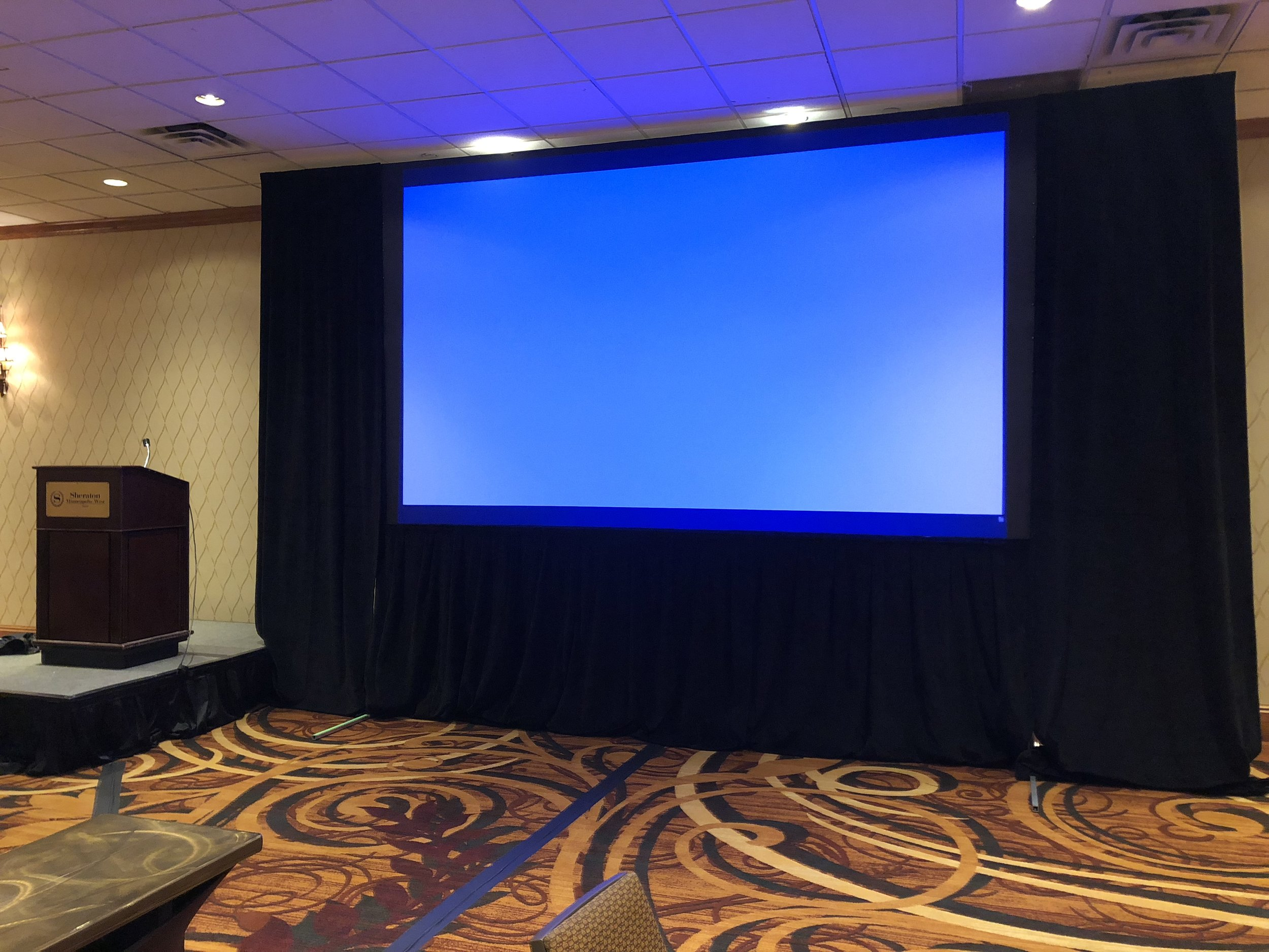 Picture of AV for You Rental Equipment for a Seminar at the Sheraton Minneapolis West