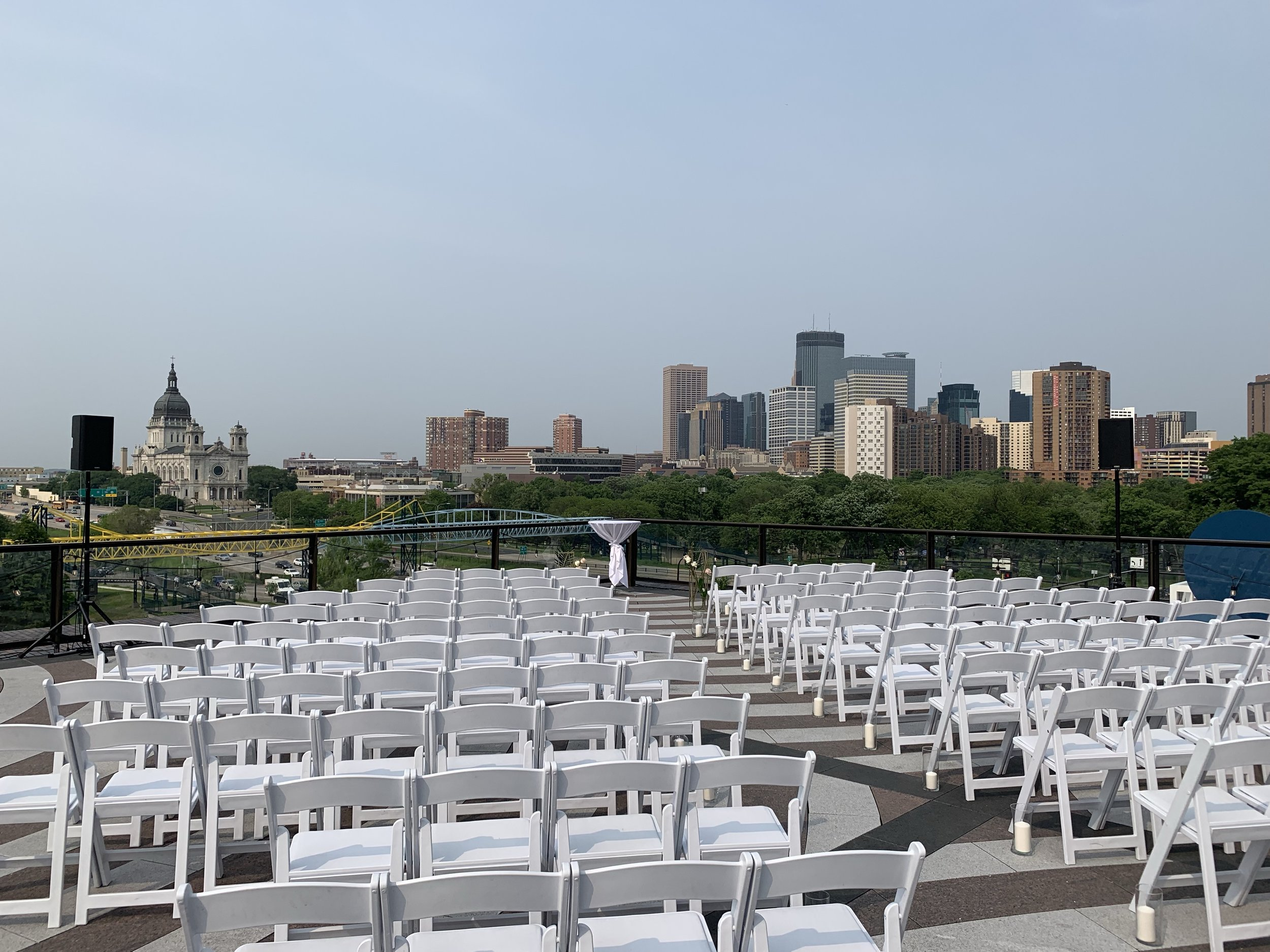 Picture of AV for You Audio Rental Equipment for an Outdoor Wedding at the Walker Art Center in Mpls