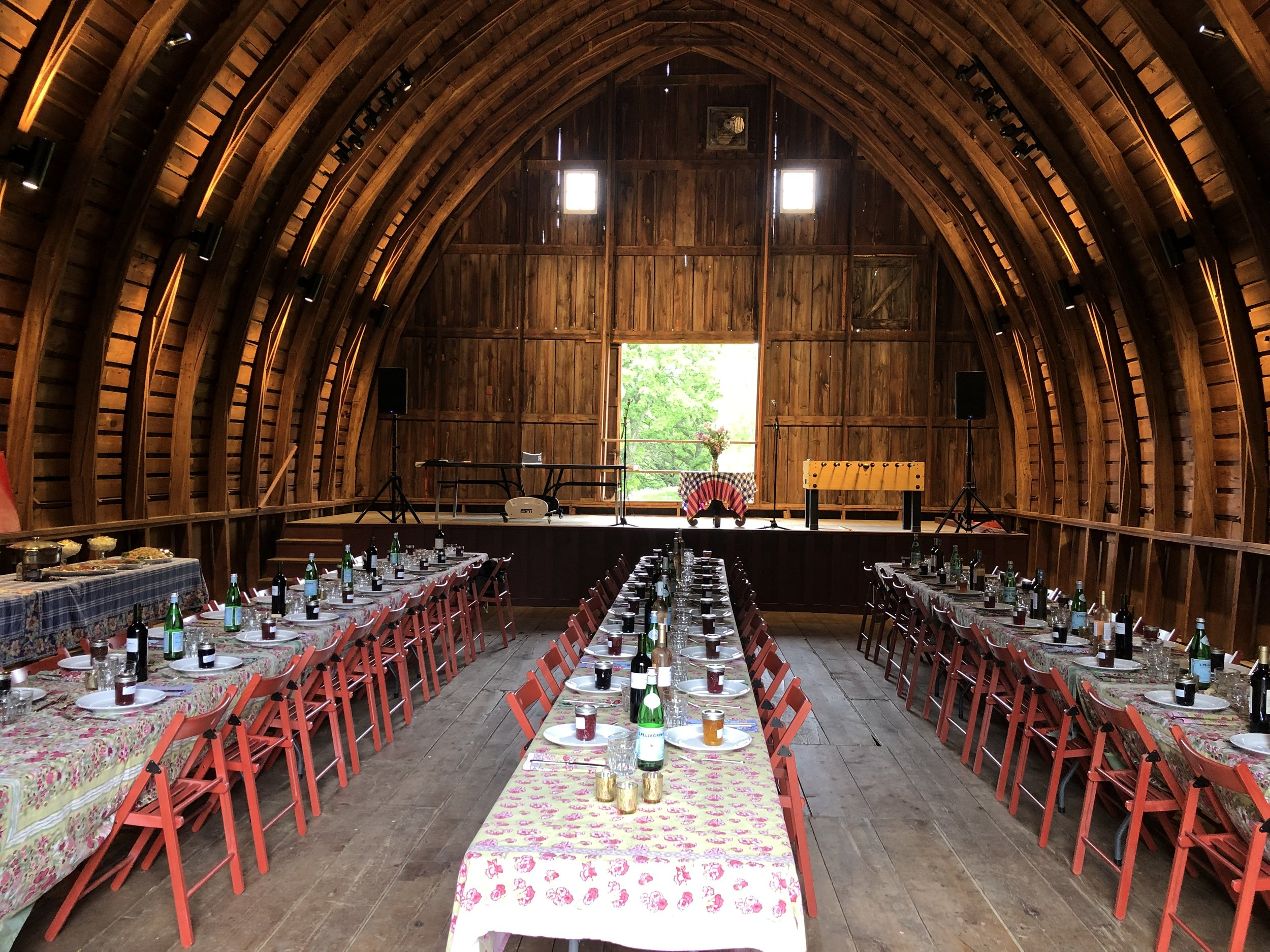 Picture of AV for You Audio Rental Equipment for Wedding Reception in a Barn