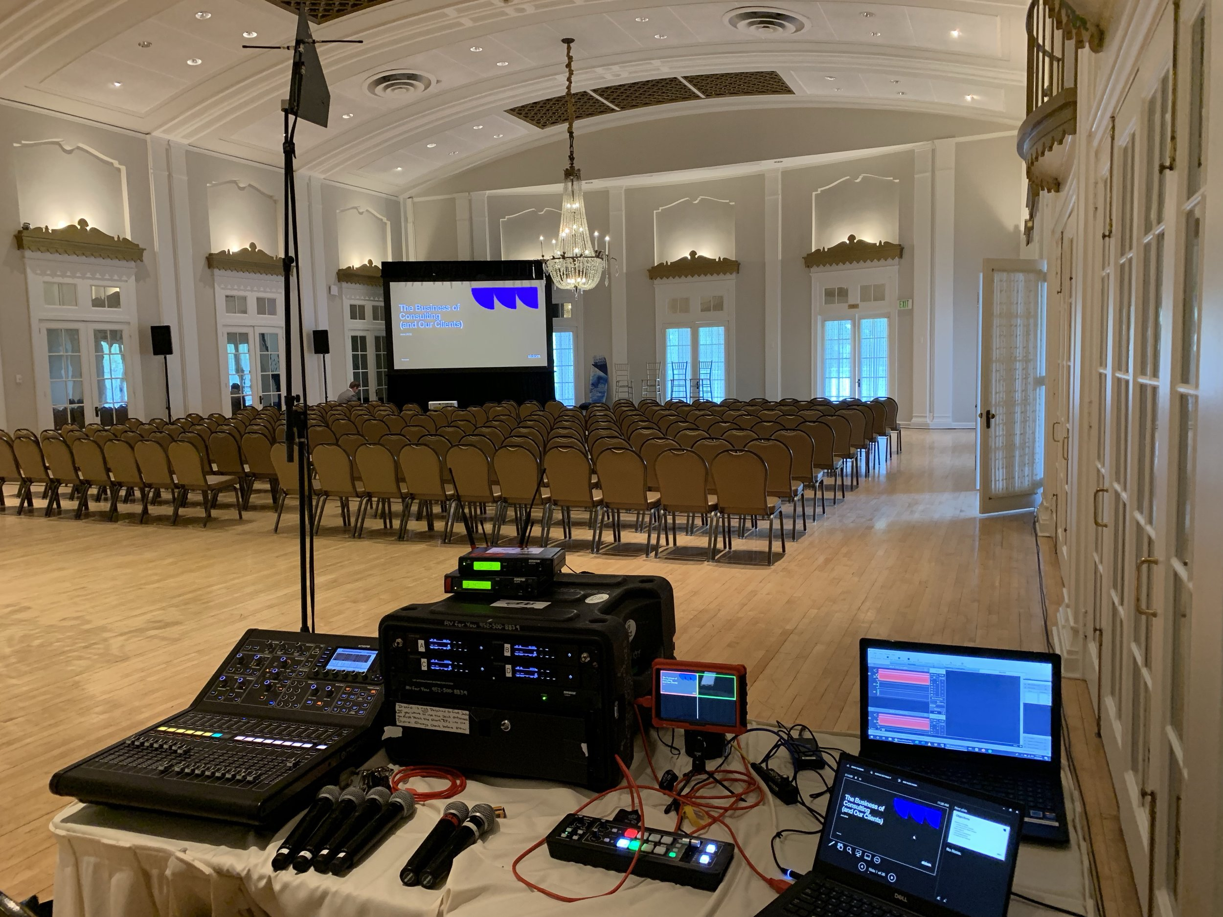 Picture of AV for You rental equipment at the Lafayette Club in MInnetonka Beach