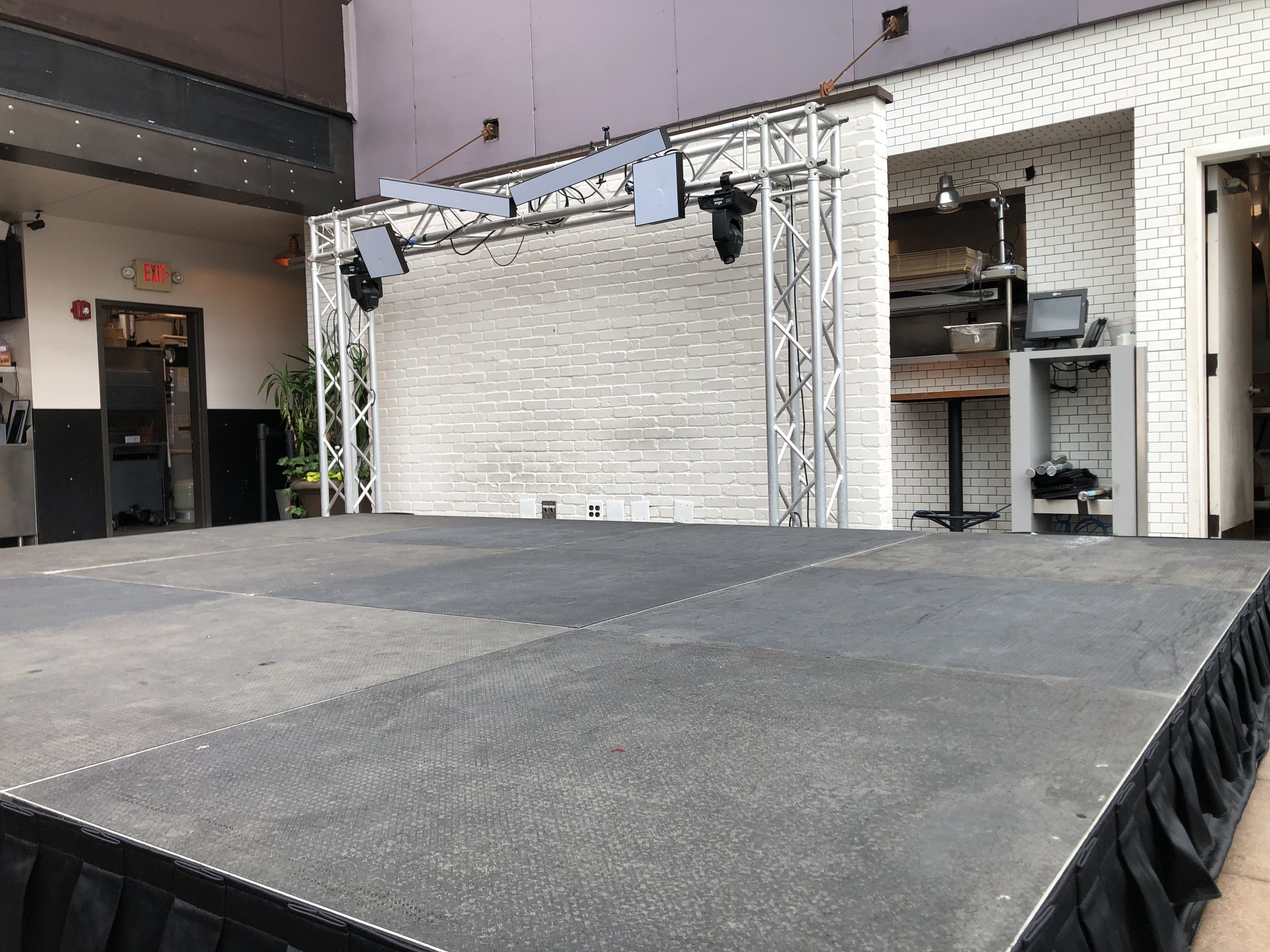 Picture of AV for You Rental Stage at the Union Rooftop in Minneapolis, MN