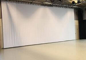 Picture of AV for You White Cyclorama Celtic Cloth Backdrop available to Rent.