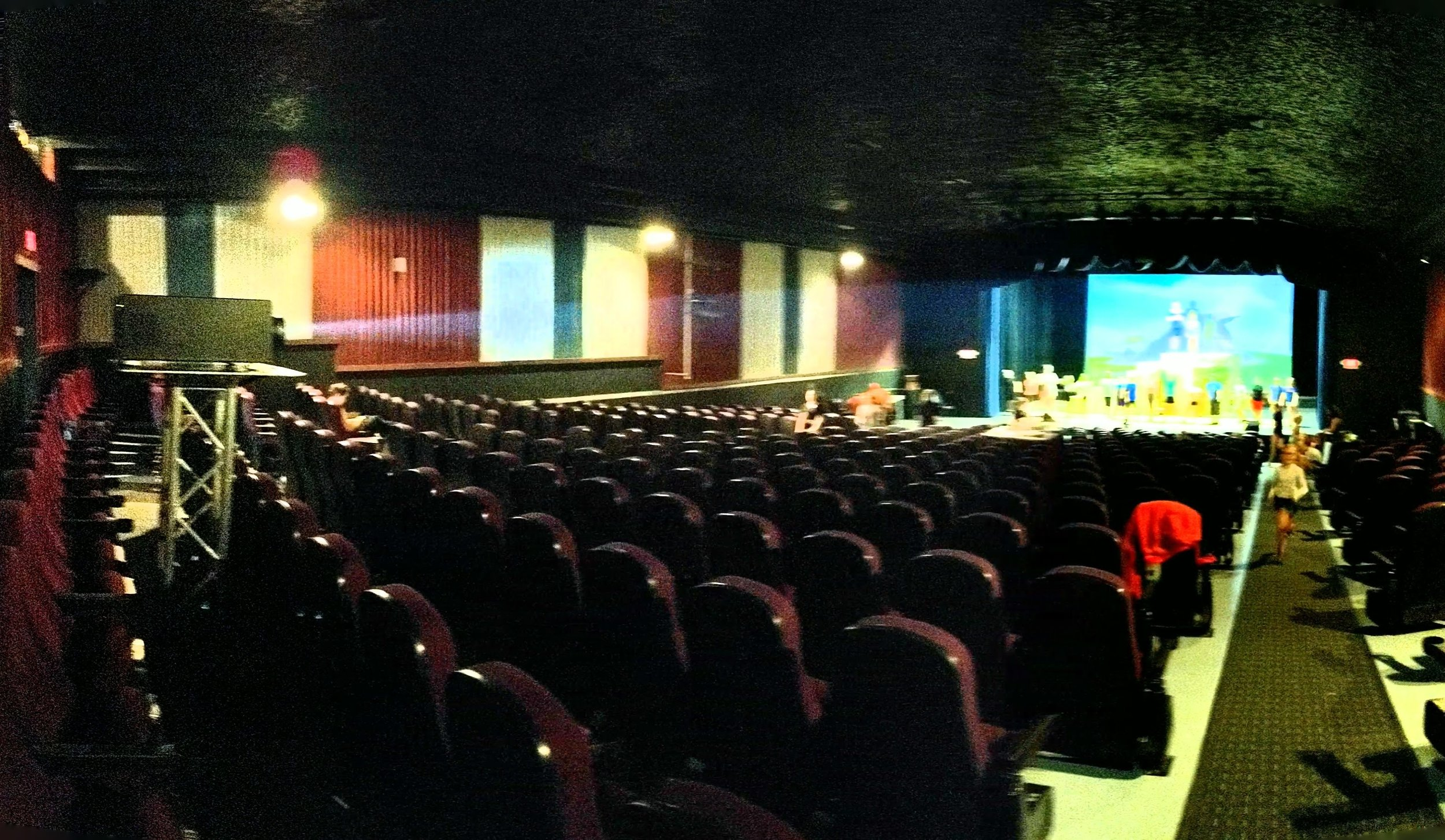 Picture of AV for You Projector Rental for Video Backdrop at the Andria Theater in Alexandria