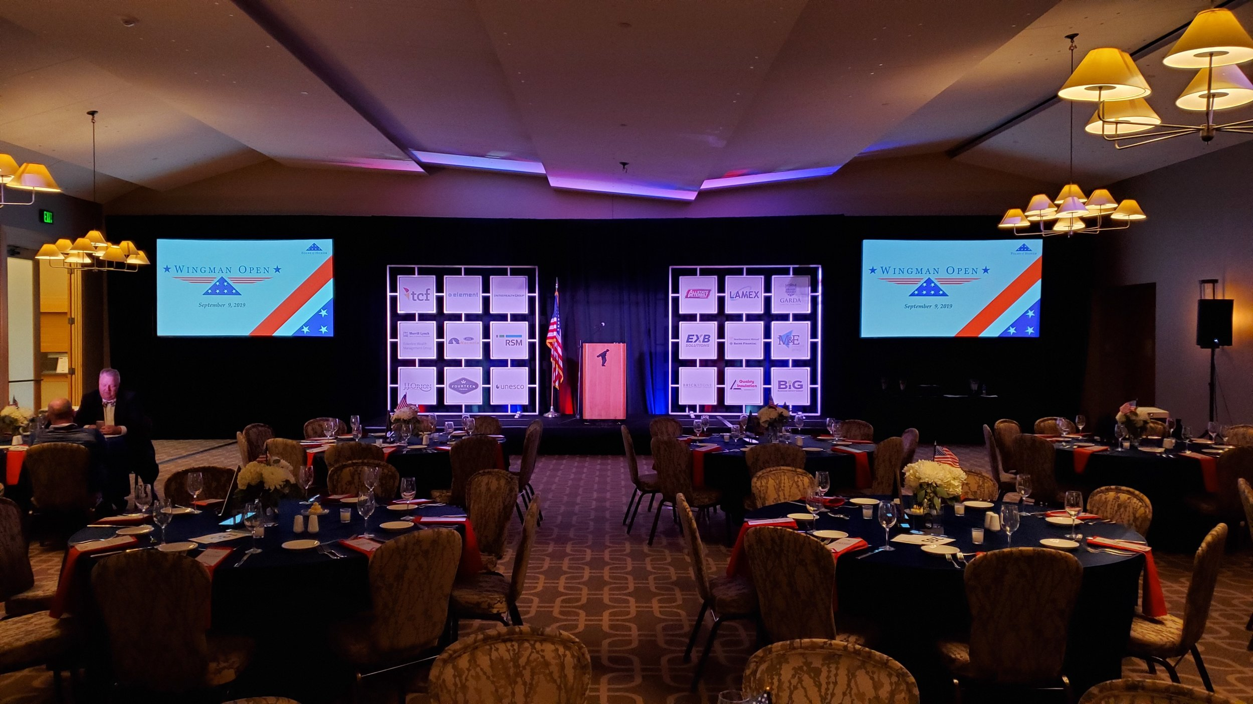 Picture of AV for You Audio Visual Rental Equipment at Folds of Honor Wingman Open in Chaska, MN