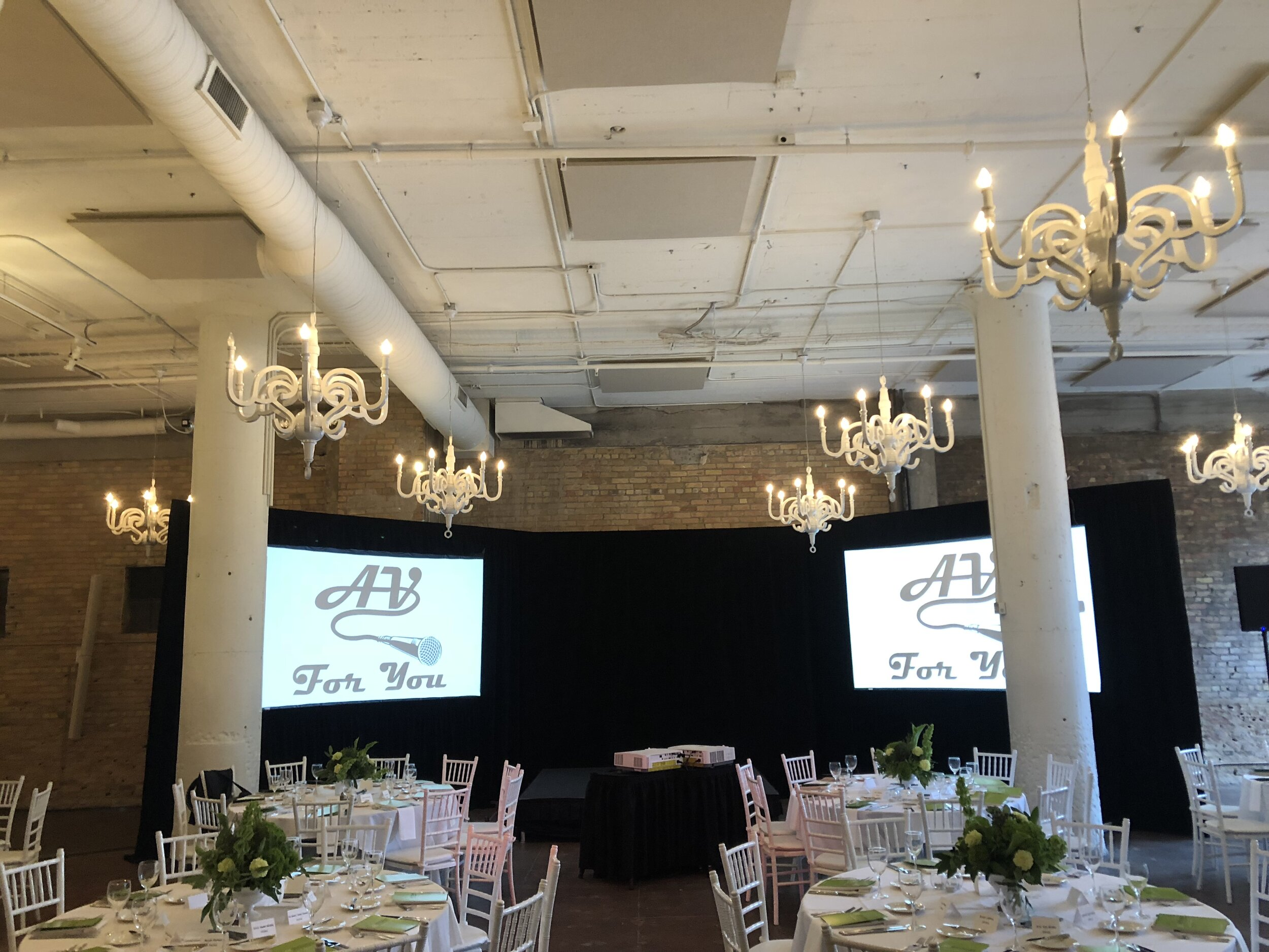 Picture of AV For You Audio Visual Rental Equipment at Loring Social in Minneapolis for Anniversary Event