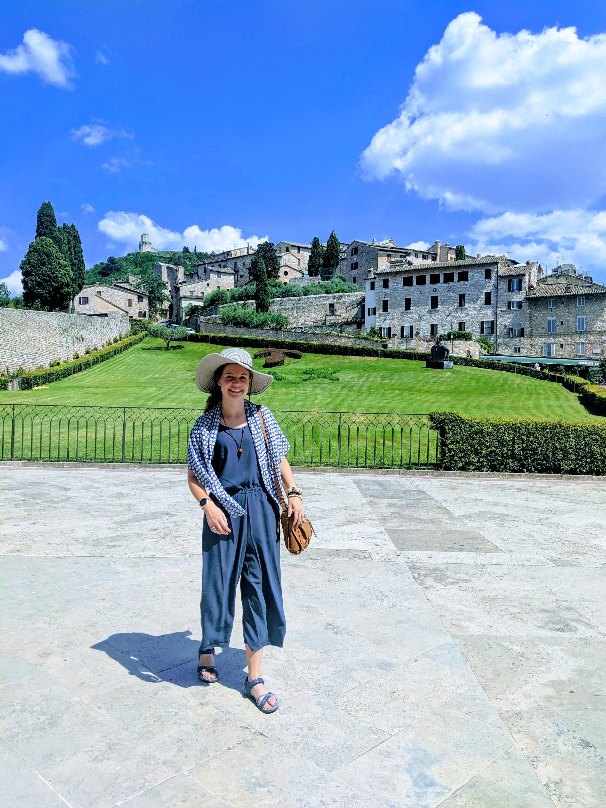 Hannah in Assisi (outside of St. Francis' Church)