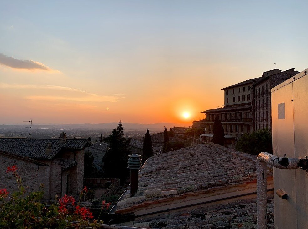 Sunset in Assisi- the view from our hotel