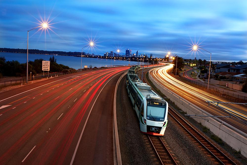 Perth Train Network, WA   TransPerth