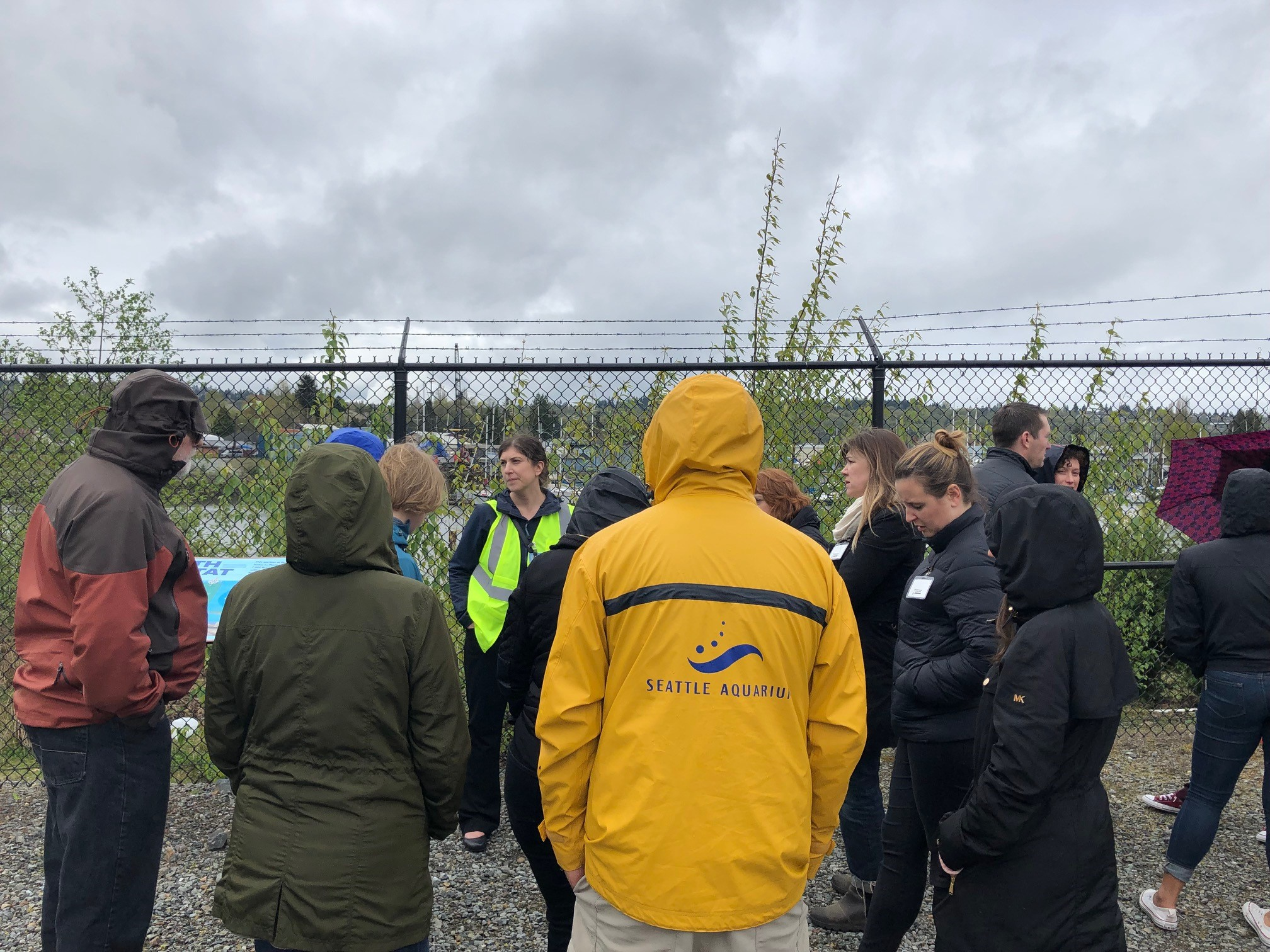 Before embarking on this tour of the Duwamish, Katie Moxley, Manager, Boeing Company Environmental Remediation, gave an overview of the restoration along their property along the Duwamish.