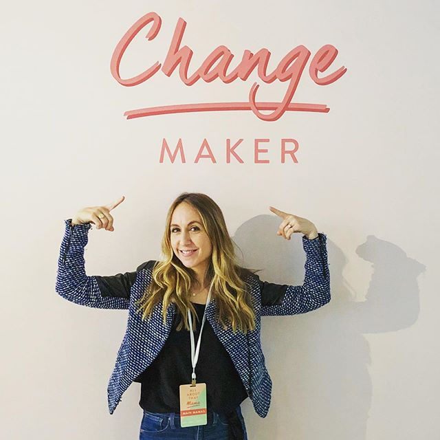 """Today I made a conscious choice to dive in fully. To own that I am a business owner, a """"change maker"""", working hard at building a brand that I believe in with all of my heart. I talked confidently and proudly about my work to other moms, listened and learned from some incredible women. Decided to shut off the narrative in my mind of """"building a business is hard"""" and step into the fact that I'm doing it. Maybe not as quickly as I'd like but at the pace that works for me right now. One small right action, one event at a time. Today I was able to sit back and think about all the things I have accomplished all while being a mom to twins rather than focusing on the shit on my to do list that's still sitting there. Thank you to everyone at @heymamaco for putting on such an awesome event and to all of the panelists for your time and wisdom. #thepresentmama #presentmama #twinmom #twinmama #workingmom #momcoach #mamacoach #coachingformoms #coachingformamas #allaboutthatmama #heymamaco"""