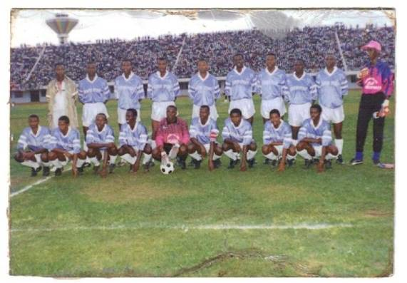 Eric with Rayon Sport in 1992