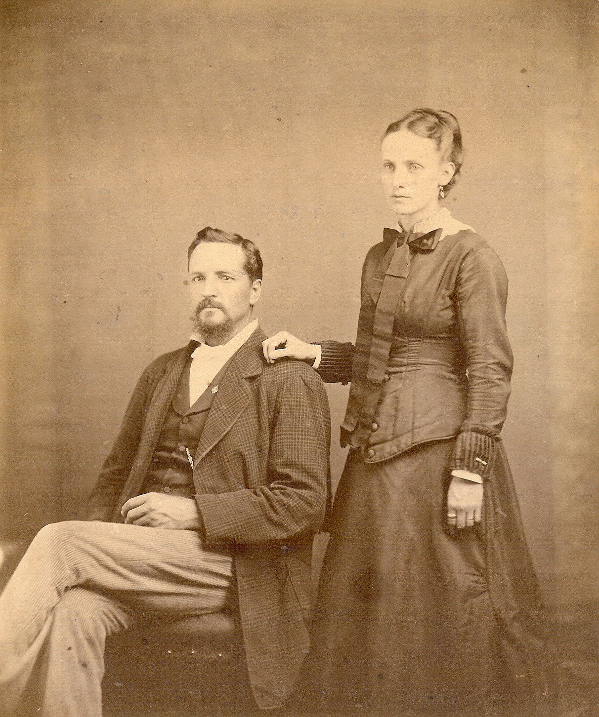 Joseph and Emma Pruitt about 1875.