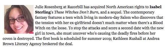 THESE WITCHES DON'T BURN and Sequel by Isabel Sterling