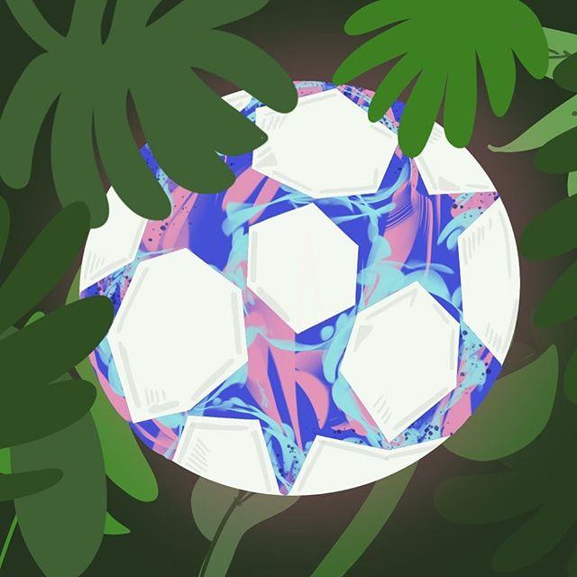 Millennial football 🏝⚽️ . . . . . #illustration #procreate #ipad #football #tropical