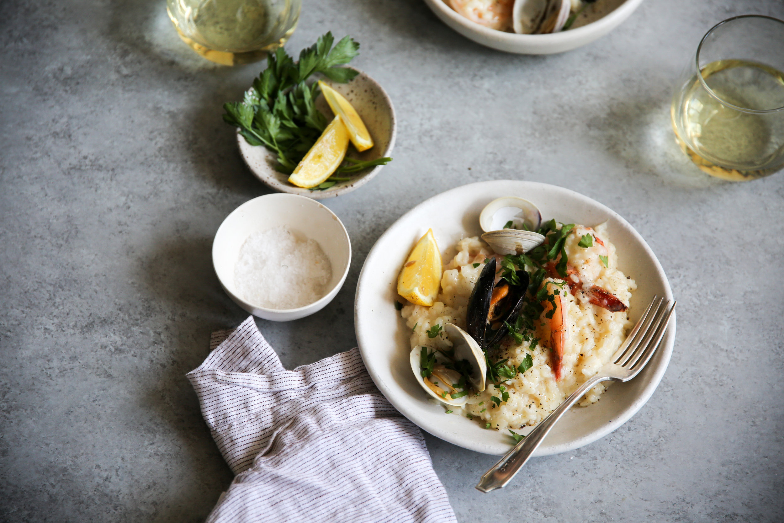 Crab Stock Seafood Risotto