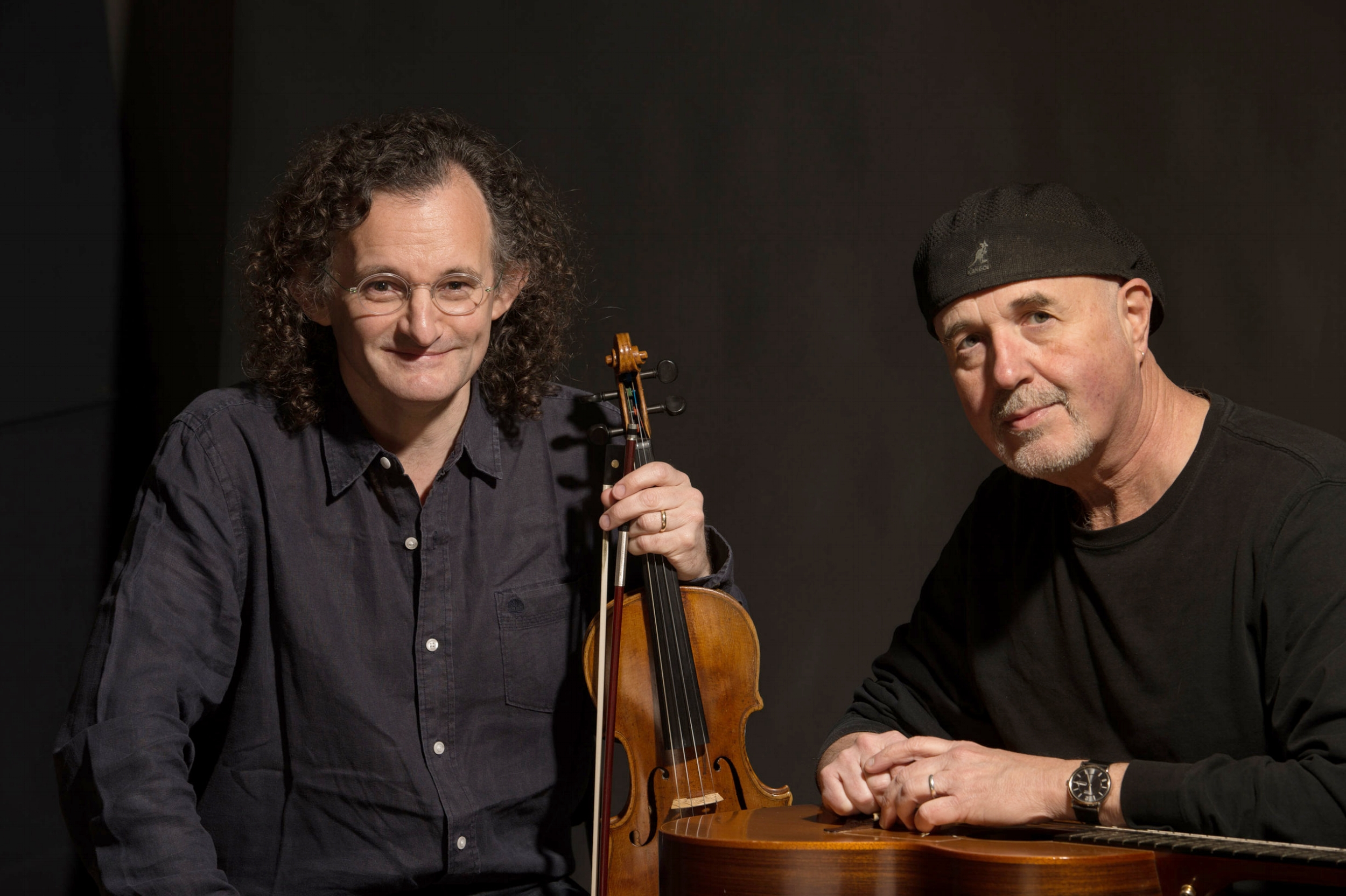 Martin Hayes with his long-time collaborator Dennis Cahill.