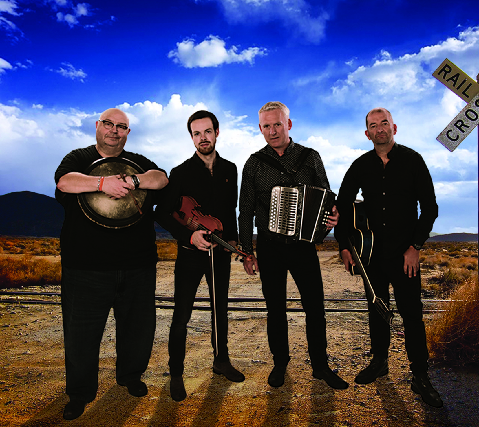 Breaking Trad is comprised of Gino Lupari, Donal Murphy, Niall Murphy and Mike Galvin.