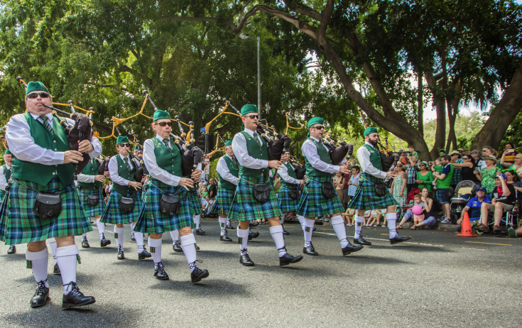 LEADING THE WAY: The Queensland Irish Association Pipe Band will be playing at Brisbane's Parade.  PHOTO: Katherine O'Malley