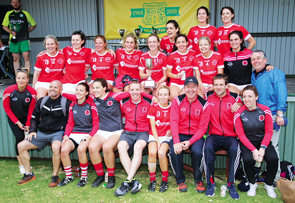 Winners: Michael Cusacks ladies football team. PIC: Darken Sportz