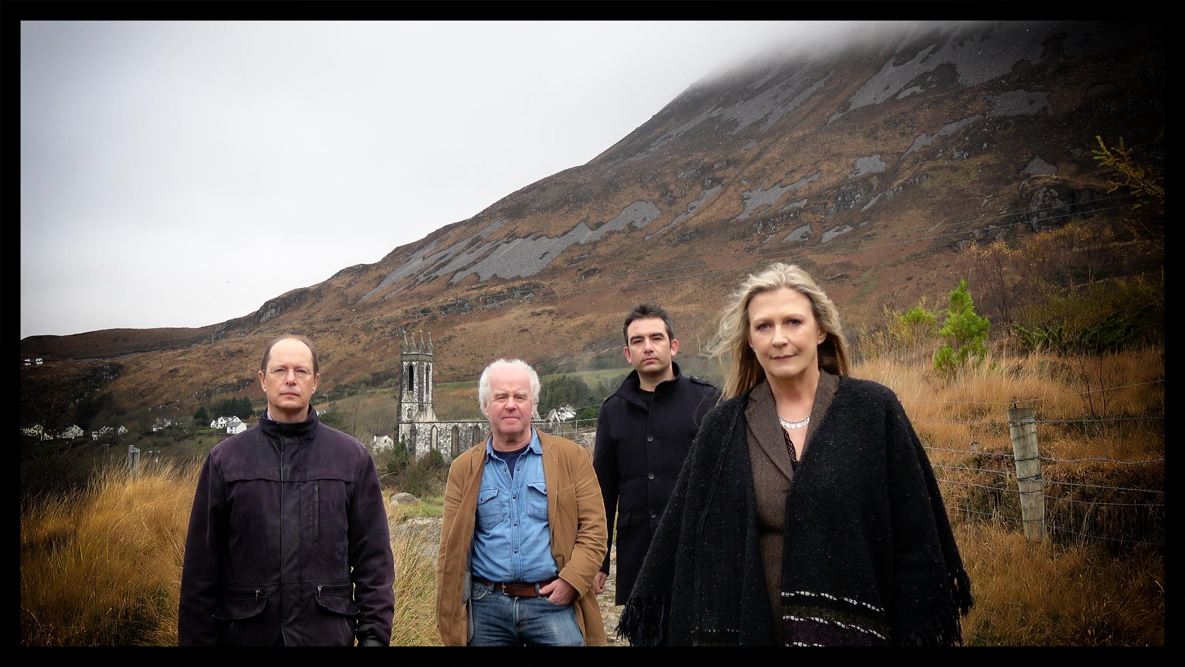 Altan – (from left) Mark Kelly, Ciarán Curran, Martin Tourish and Mairéad Ní Mhaonaigh. Absent from the photograph is guitarist Daíthí Sproule.