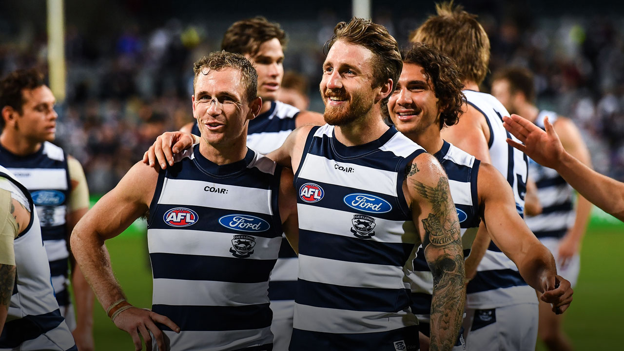 Zach Tuohy is the toast of Geelong after scoring the winning goal for the Cats against Melbourne.